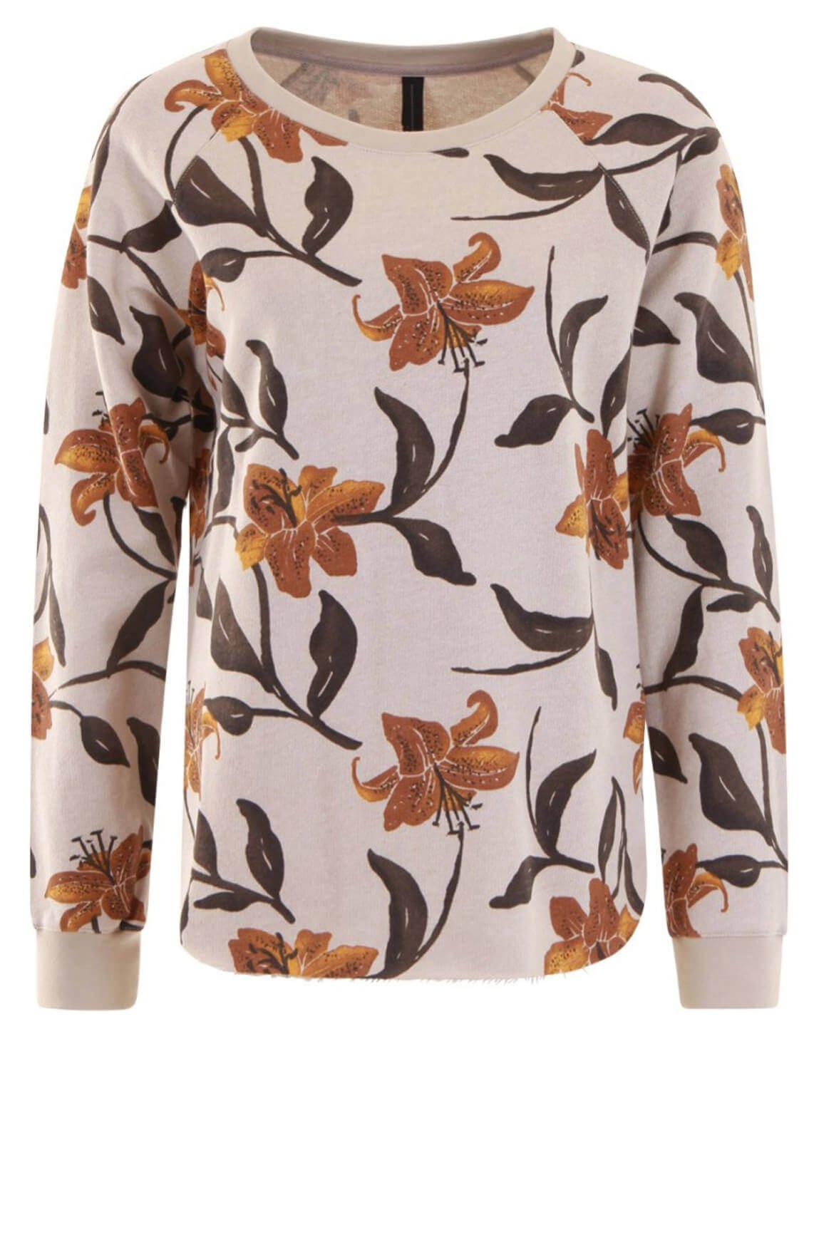 10 Days Dames Pullover met bloemenprint Bruin