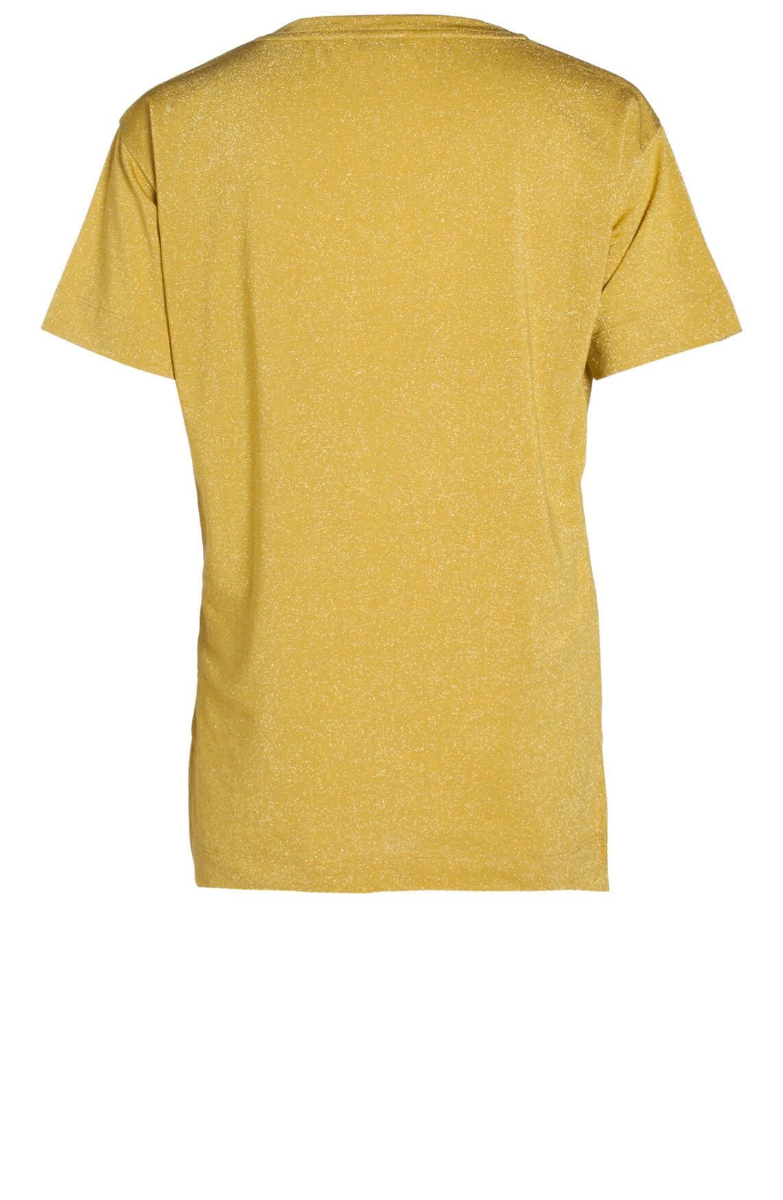 Anna Dames Glittershirt geel