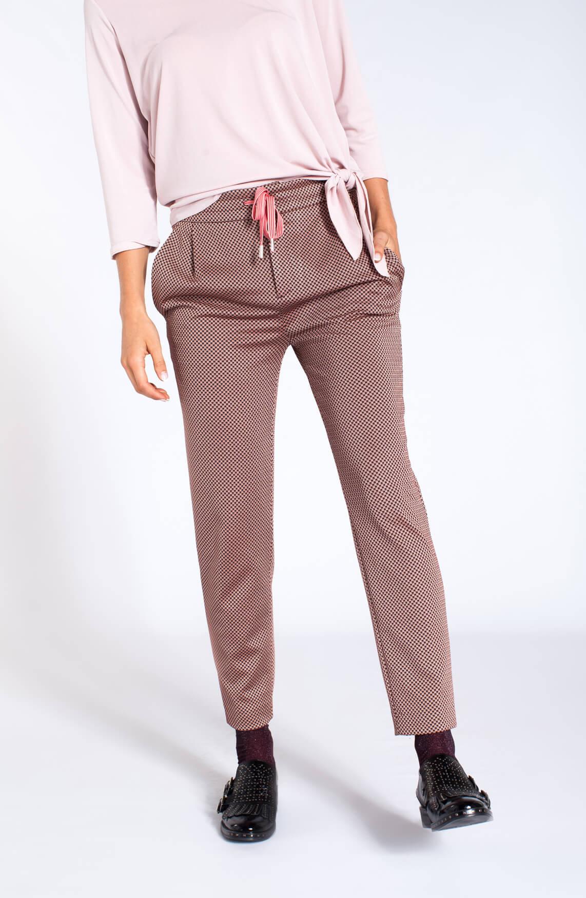 Drykorn Dames Level broek met print Oranje