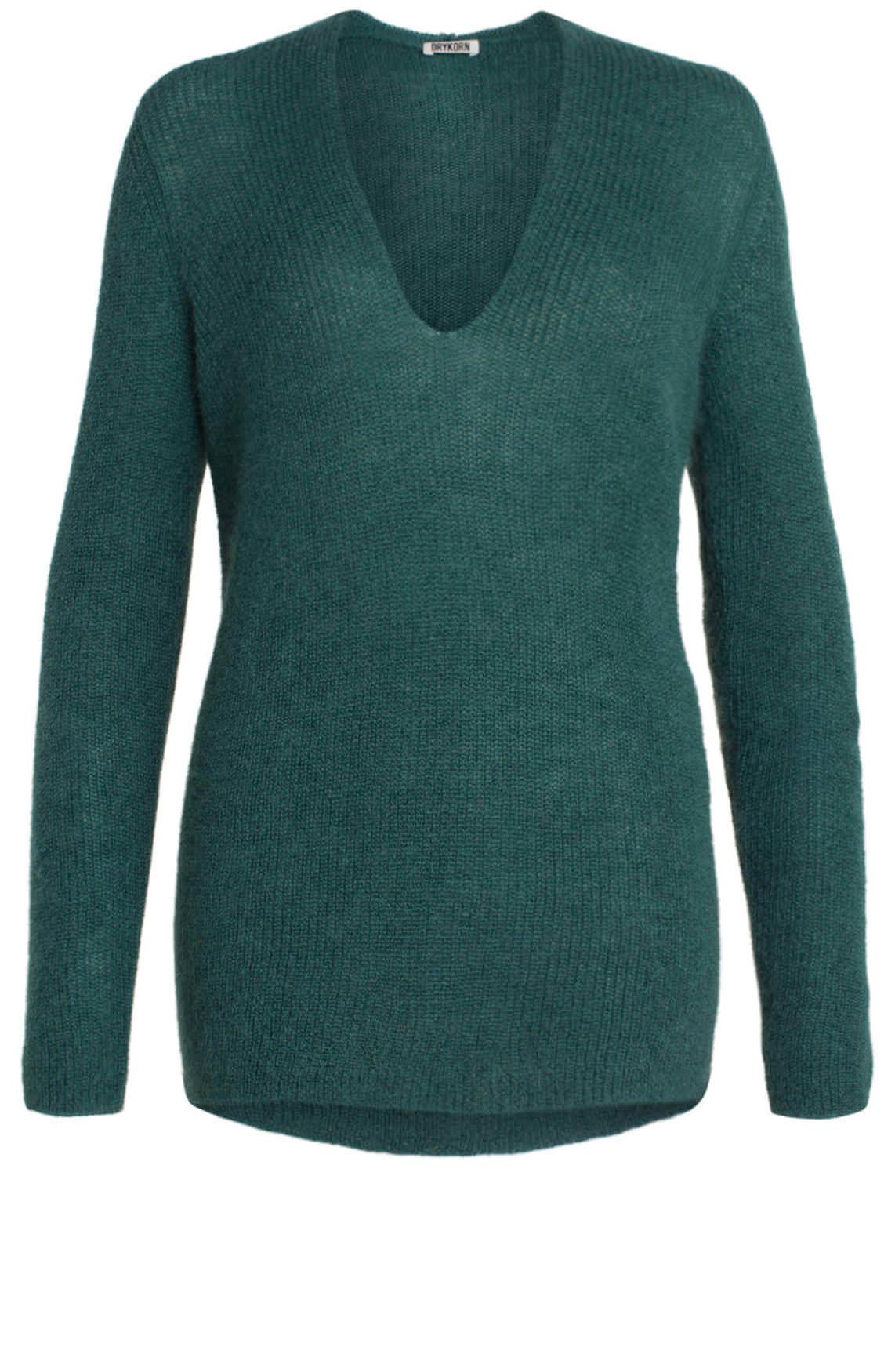 Drykorn Dames Selen wollen pullover groen