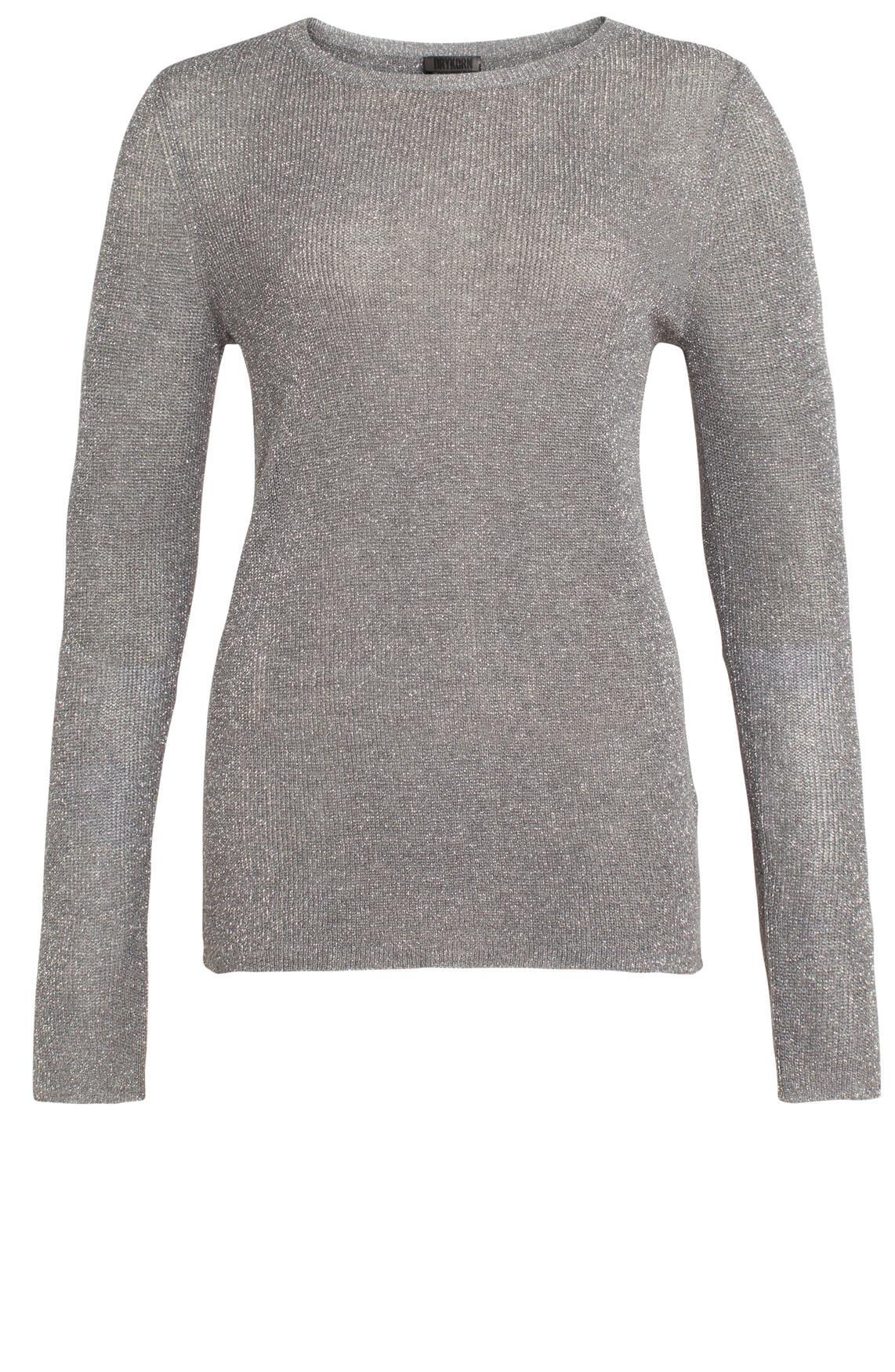 Drykorn Dames Emery pullover met lurex Grijs