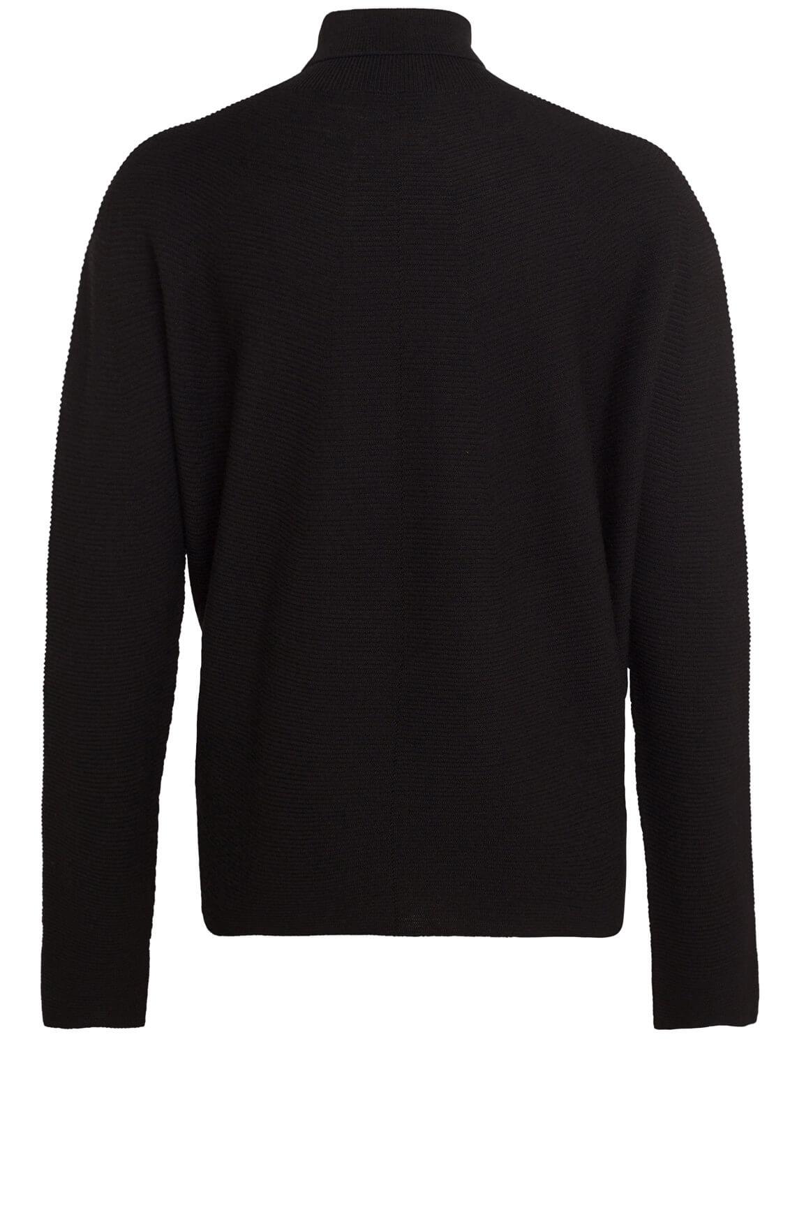 Drykorn Dames Lyza ribgebreide pullover zwart