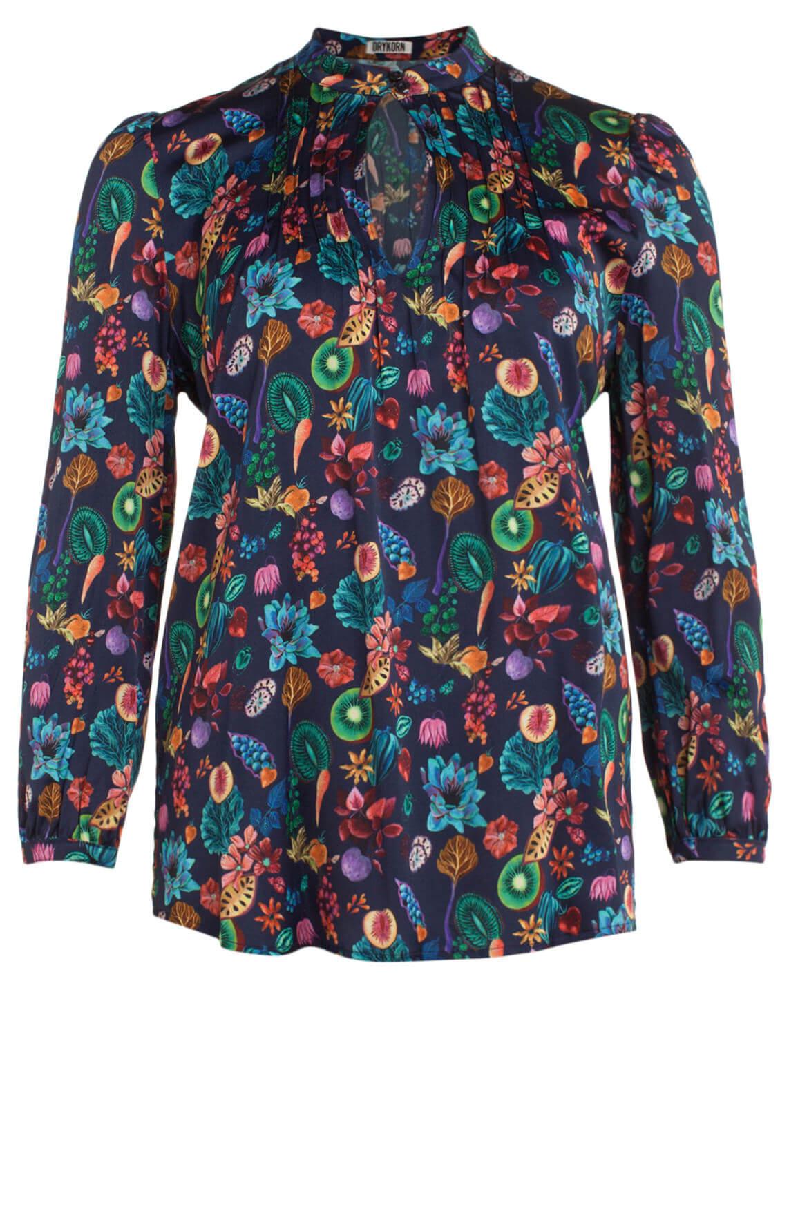 Drykorn Dames Begonia blouse Blauw
