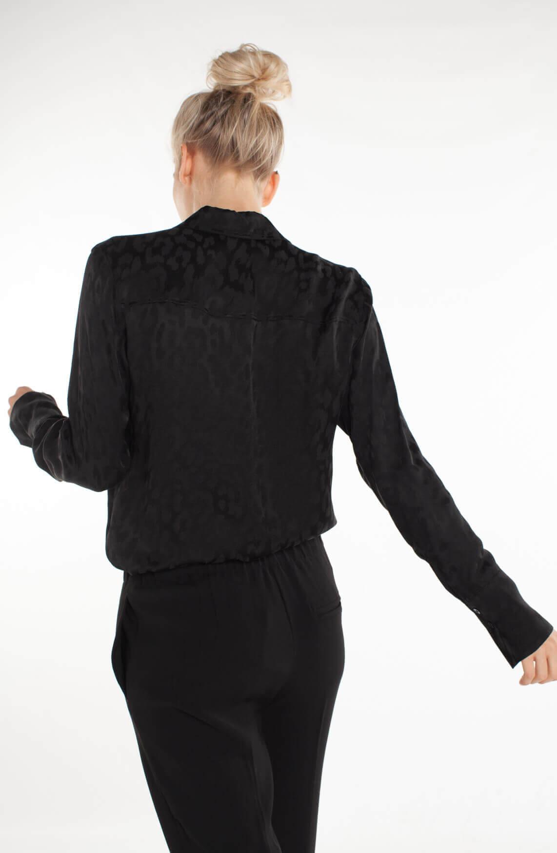 Drykorn Dames Nurja glanzende blouse zwart
