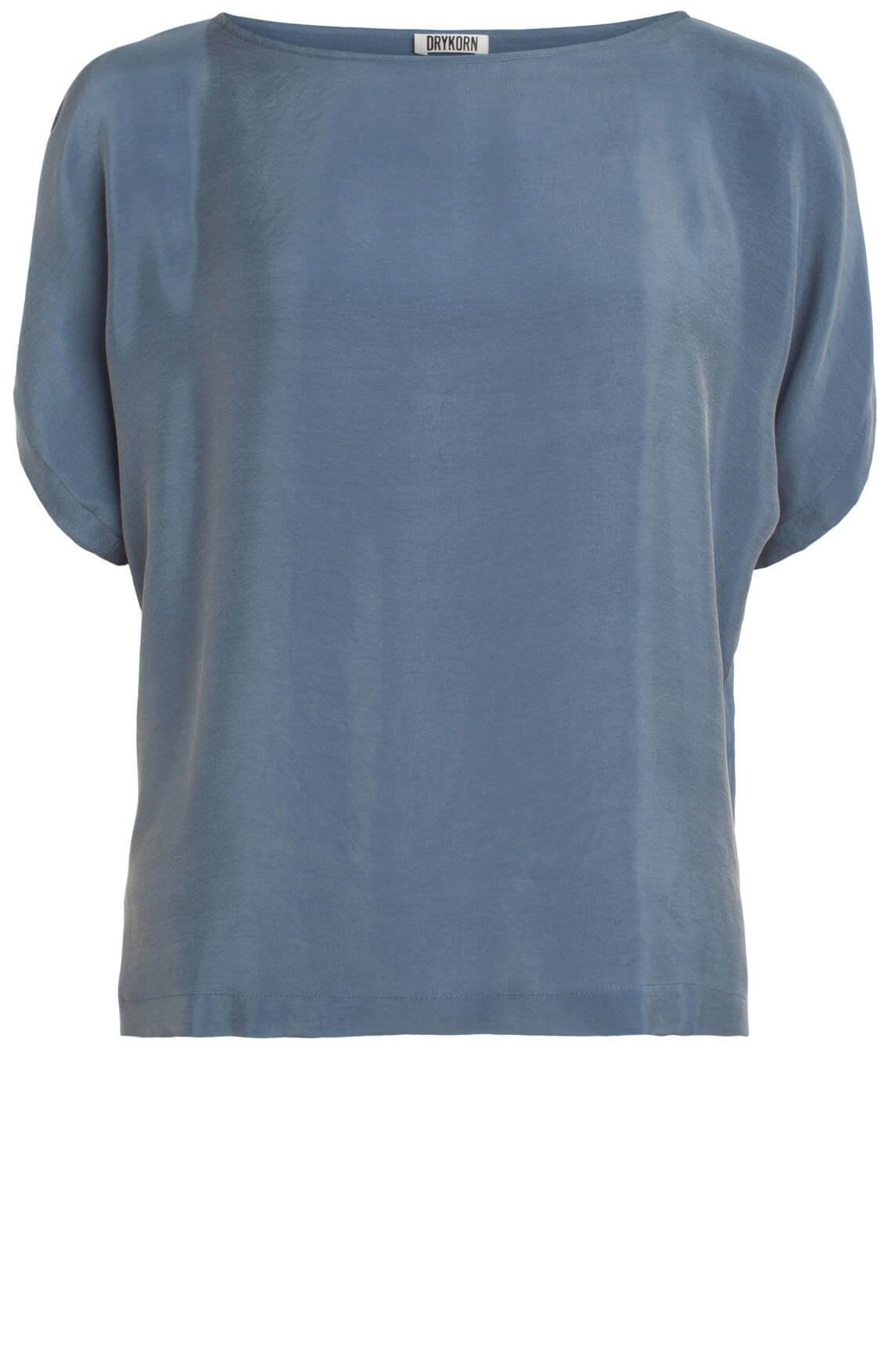 Drykorn Dames Somia chique blouse grijsblauw Blauw