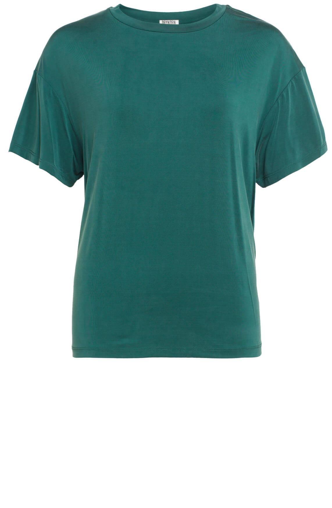 Drykorn Dames Kyla cupro shirt groen
