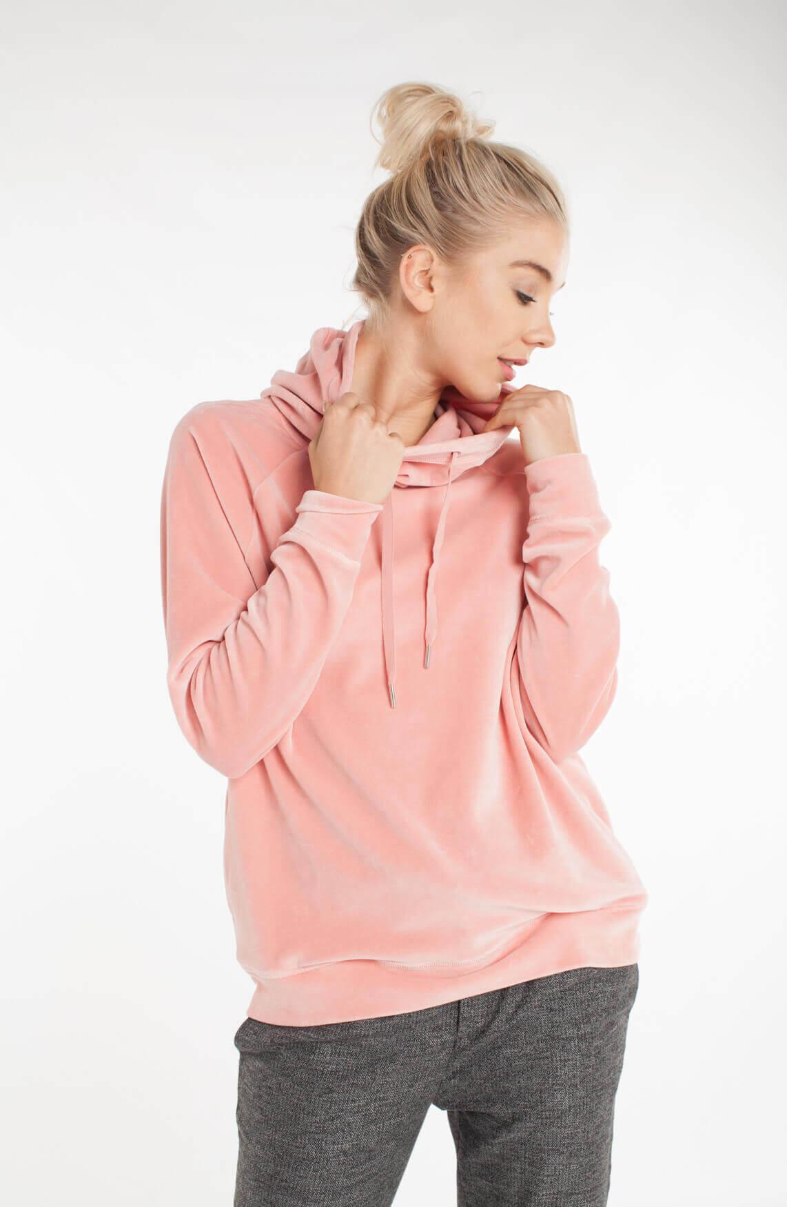 Drykorn Dames Esma sweater met capuchon roze