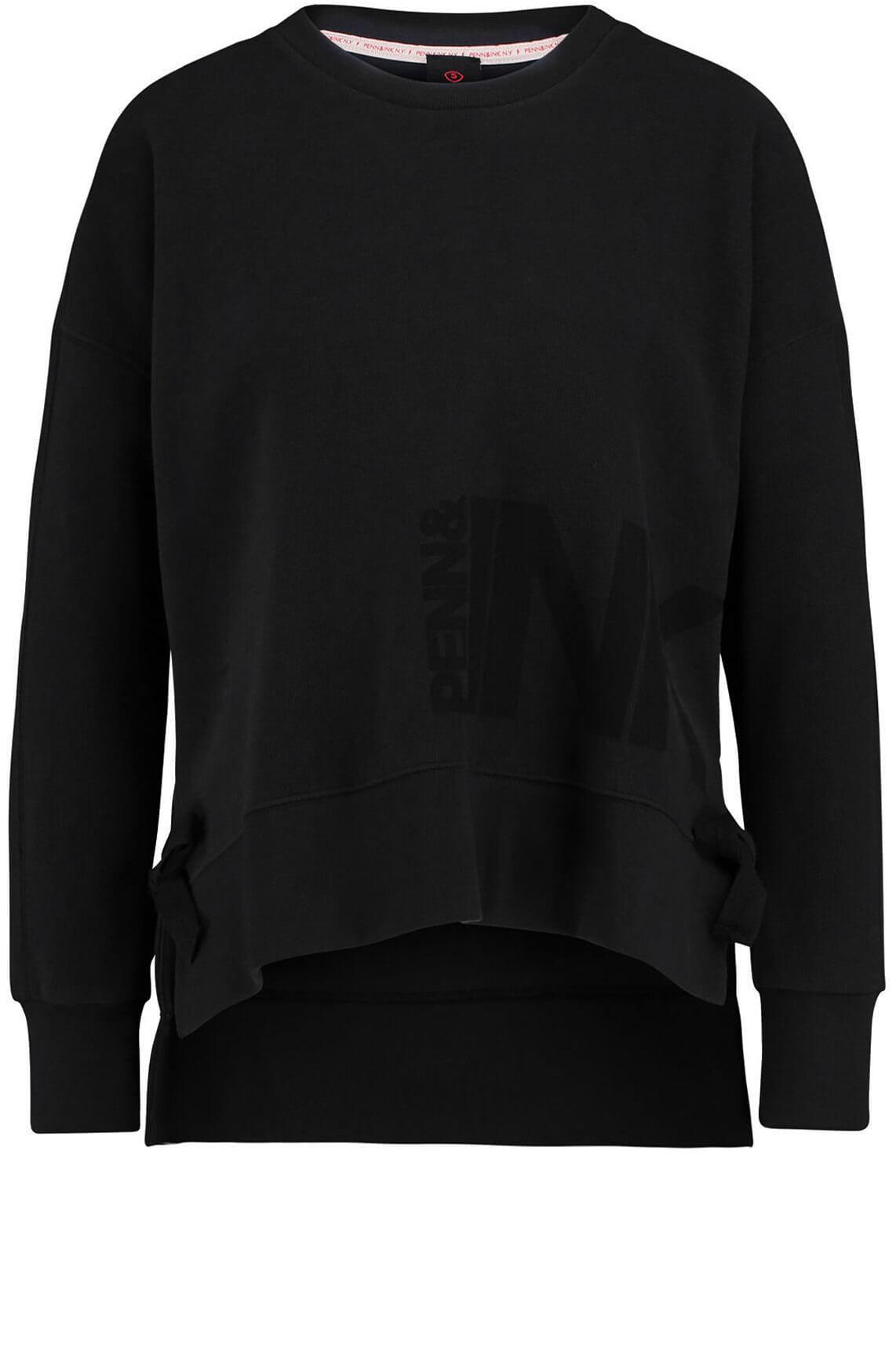 Penn & Ink Dames Sweater met strikdetail zwart