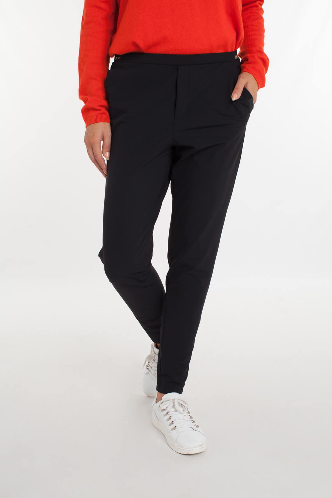 Penn & Ink Dames Jersey pantalon zwart