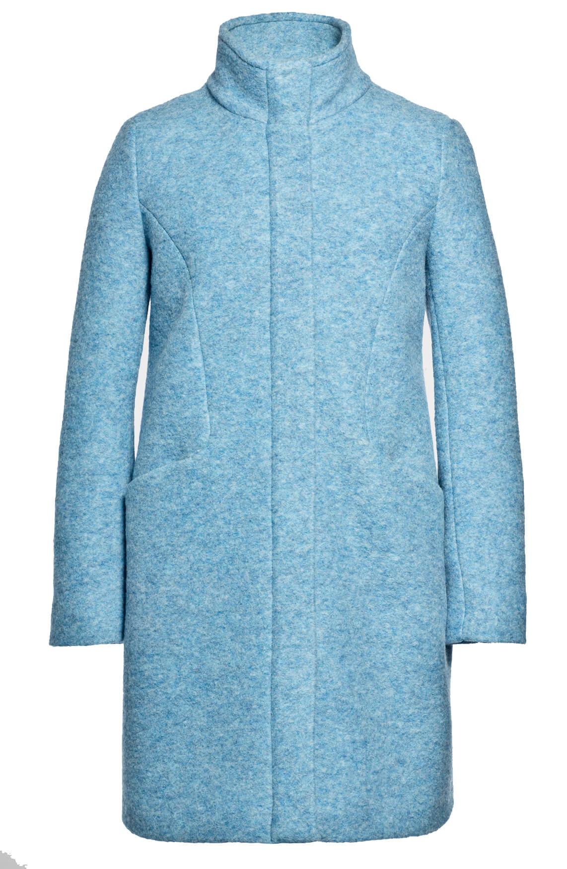 Beaumont Dames Mantel met hoge kraag Blauw