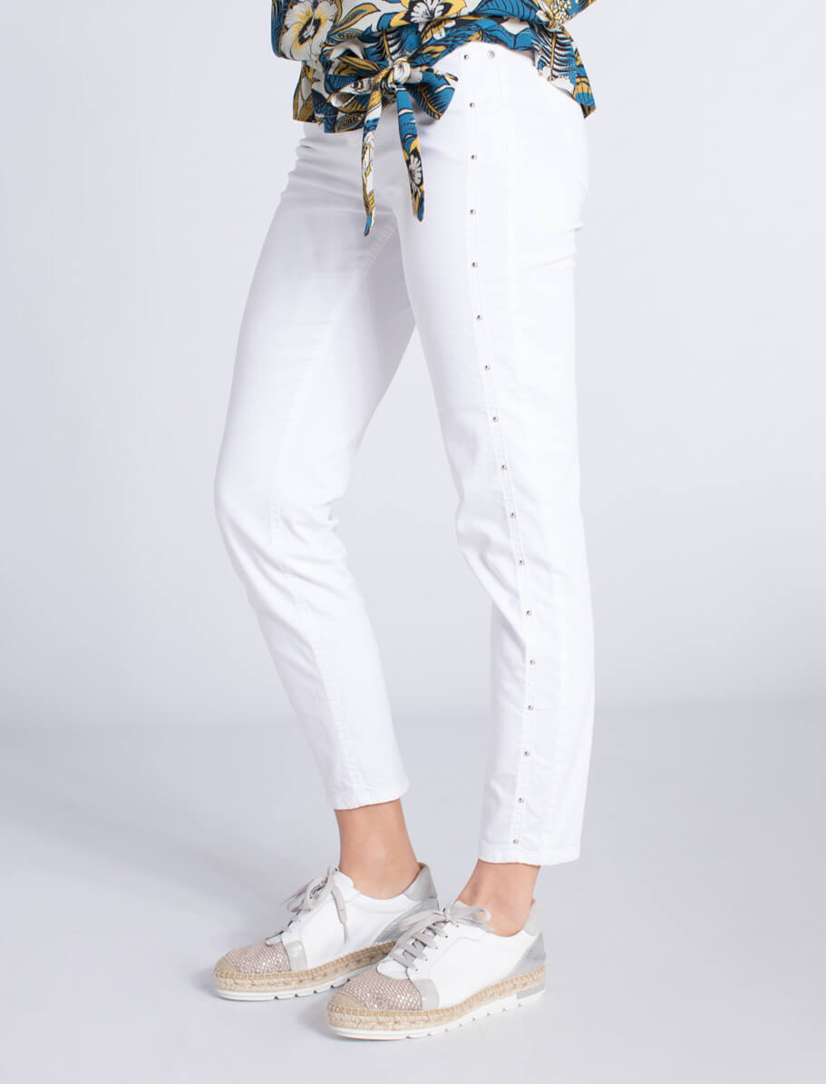Rosner Dames Antonia broek met studs wit wit