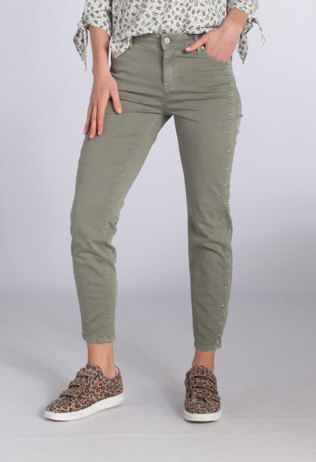 Rosner Dames Antonia broek met studs groen groen