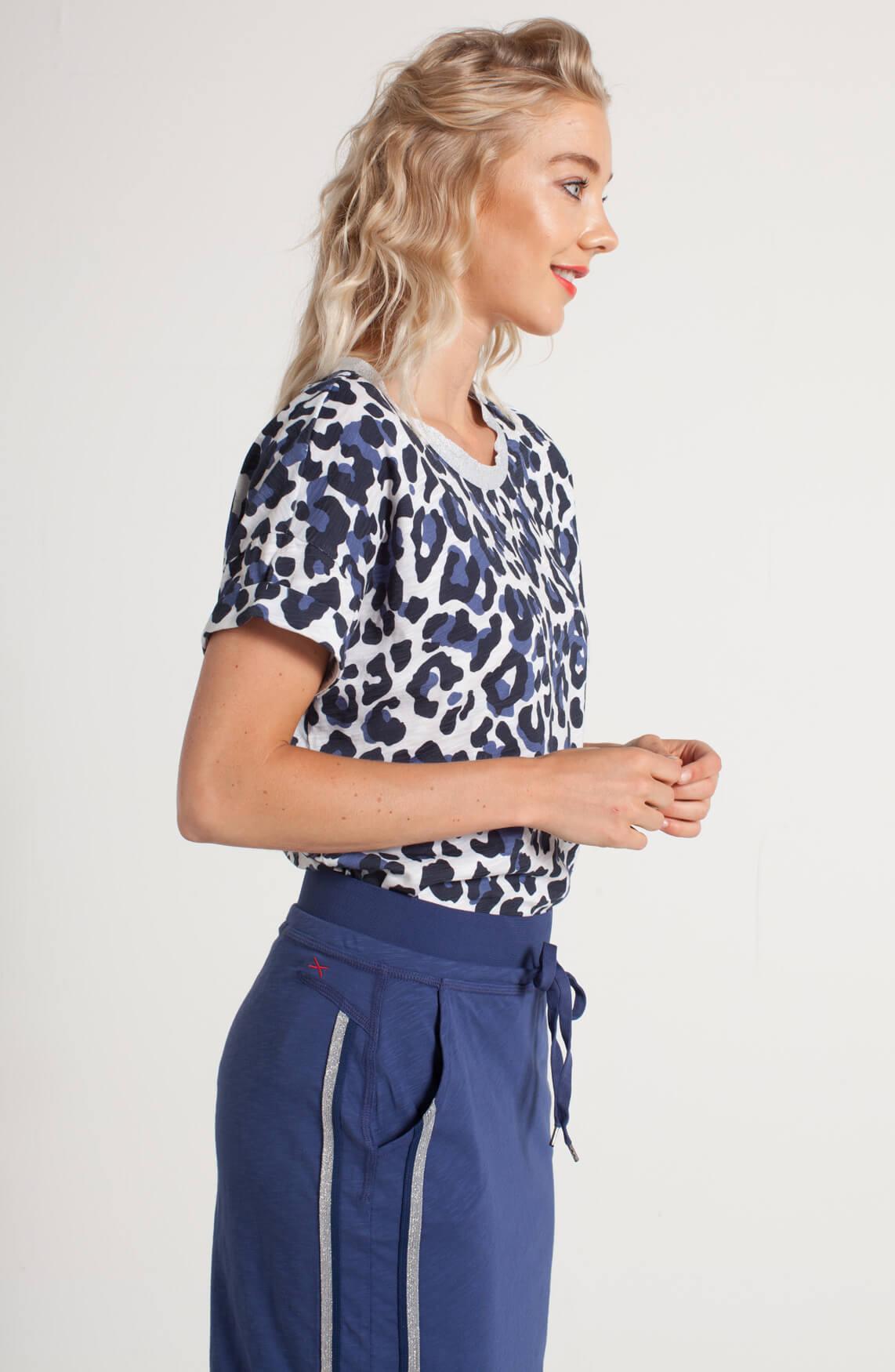 Anna Blue Dames Shirt met print Blauw