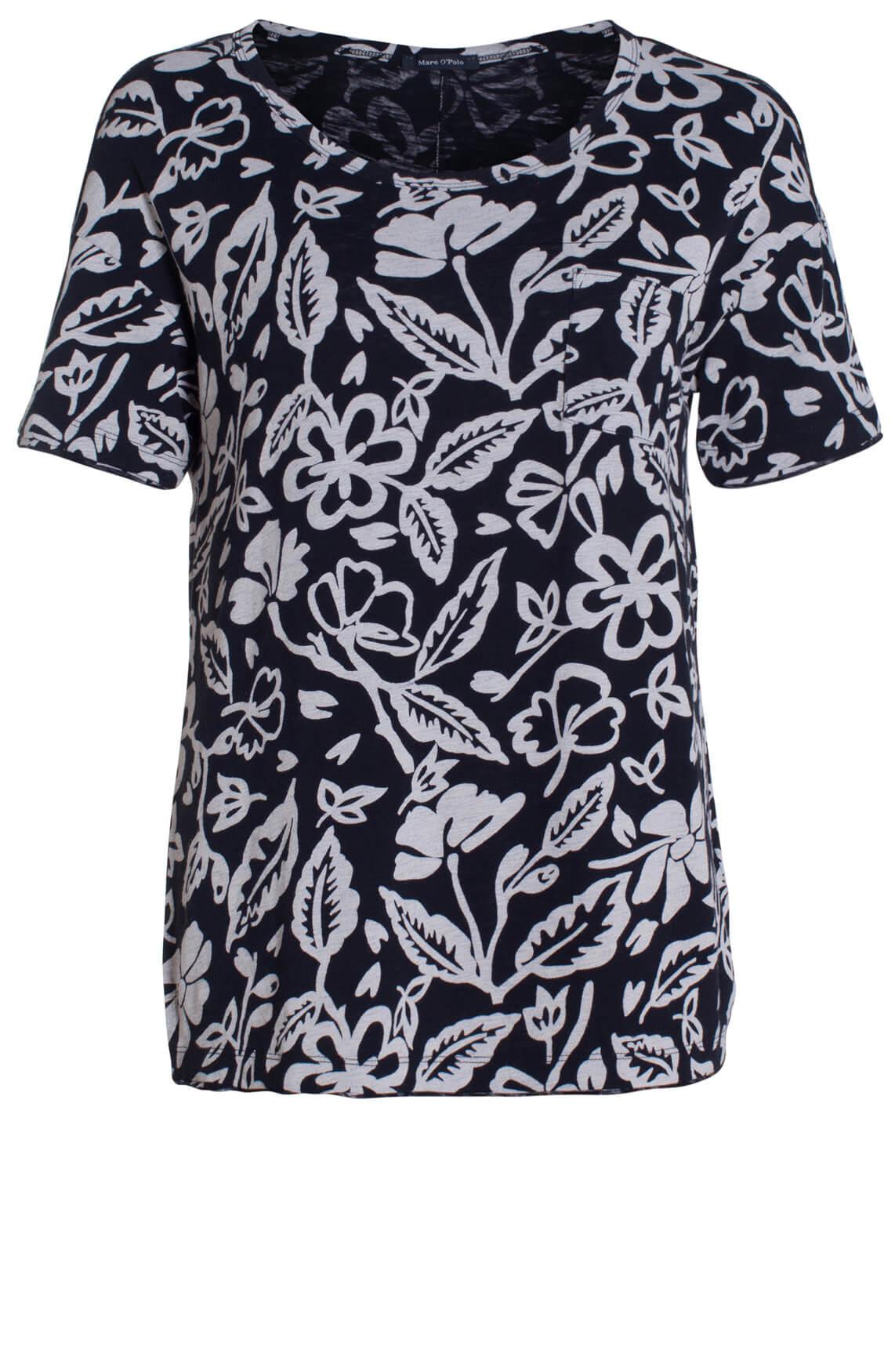 Marc O'Polo Dames Shirt met print zwart