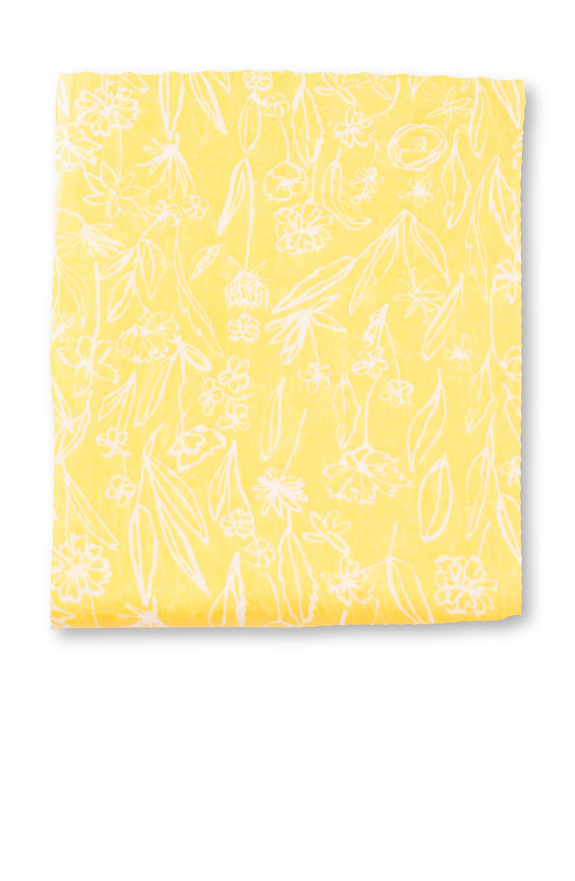 Marc O'Polo Dames Shawl met bloemenprint geel
