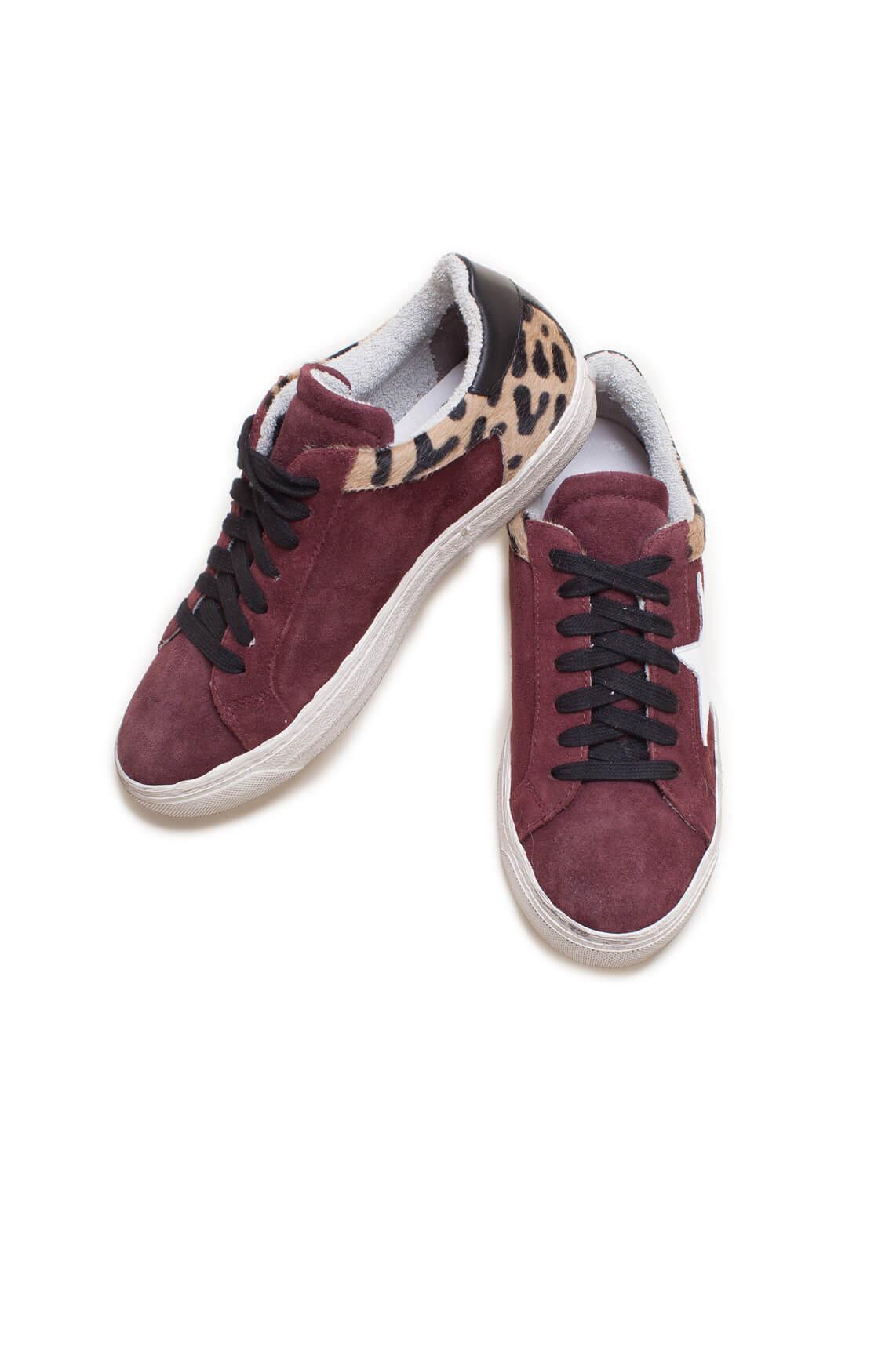 Clou Dames Sneaker met ster Paars