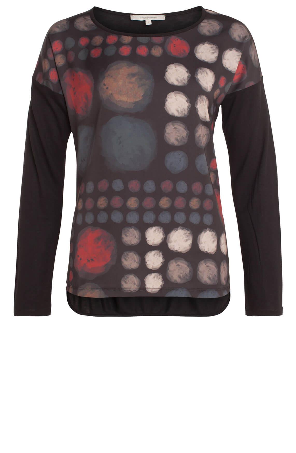 La Fée Maraboutée Dames Shirt met stippen zwart