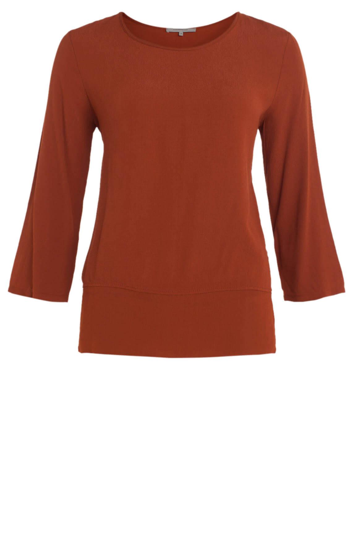 La Fée Maraboutée Dames Transparante blouse Bruin
