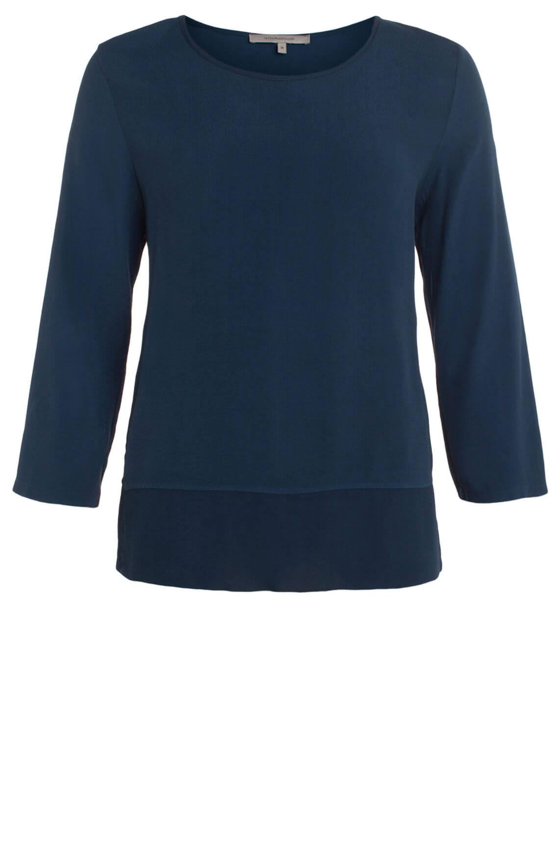 La Fée Maraboutée Dames Transparante blouse Blauw