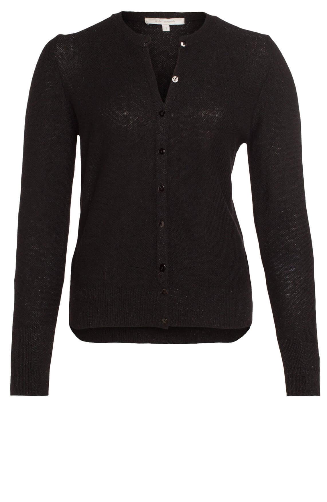 La Fée Maraboutée Dames Vest met cashmere zwart