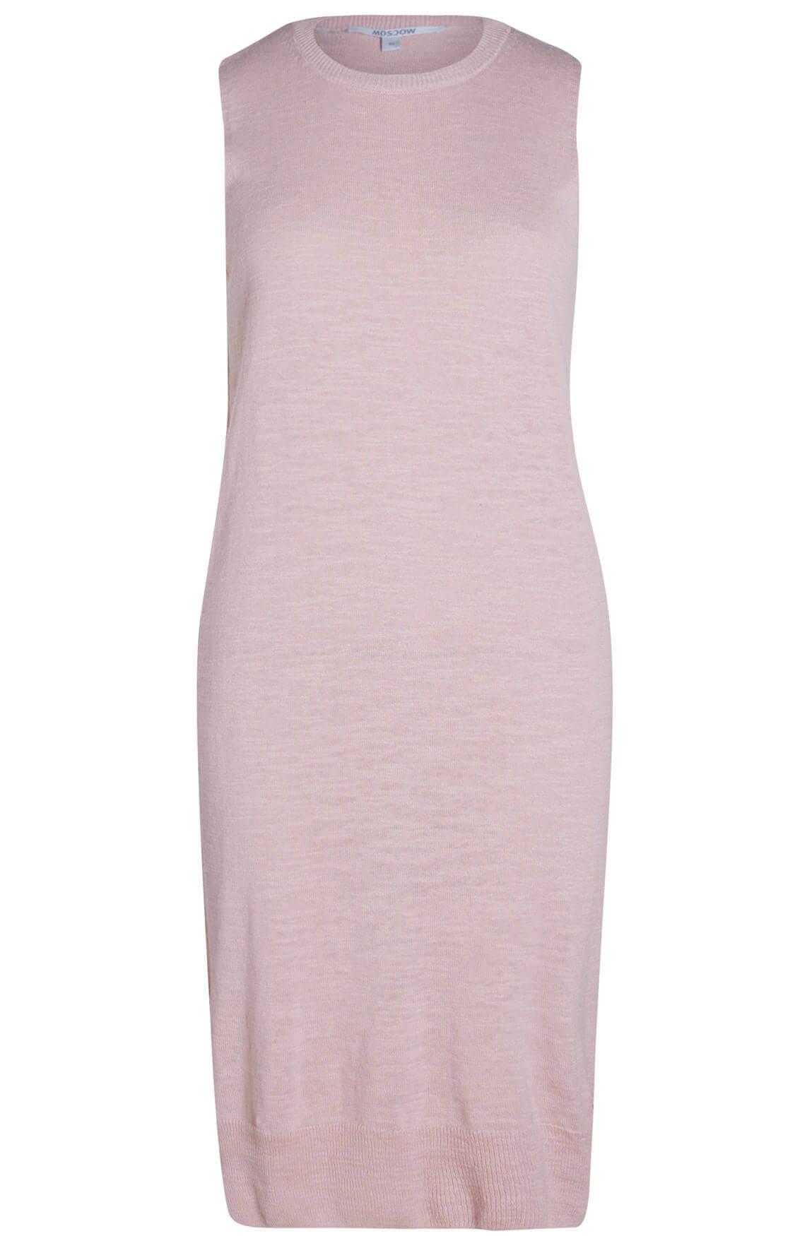 Moscow Dames Mouwloze jurk roze