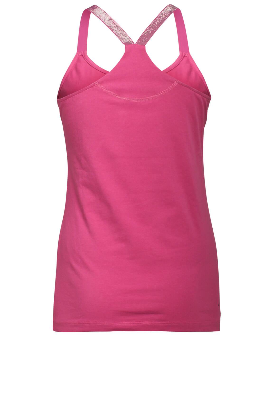 Anna Dames Top met glitterbandjes roze