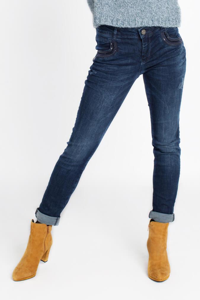 Mos Mosh Dames Naomi jeans met strass Blauw