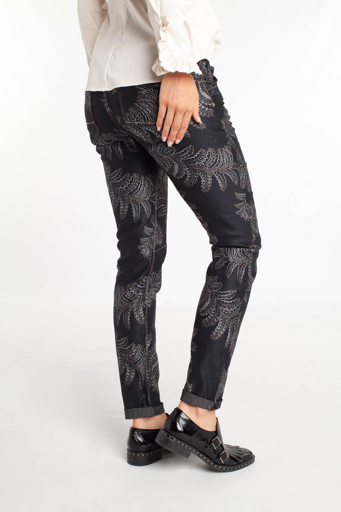 Mos Mosh Dames Naomi paisley jeans zwart