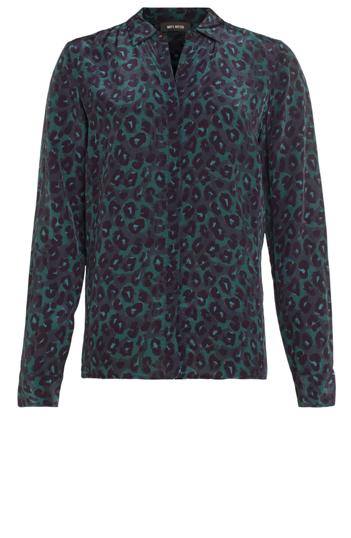 Mos Mosh Dames Taylor blouse met panterprint groen