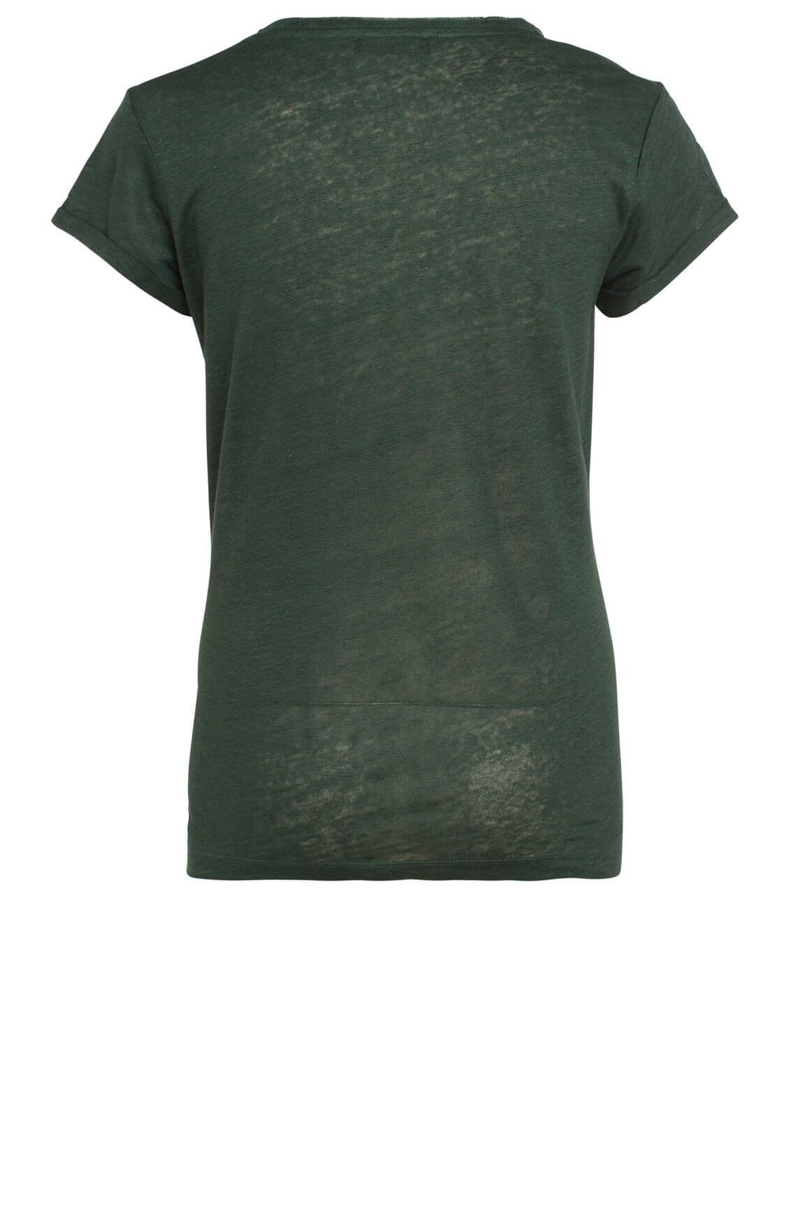 Mos Mosh Dames Leavetee shirt met pailletten groen