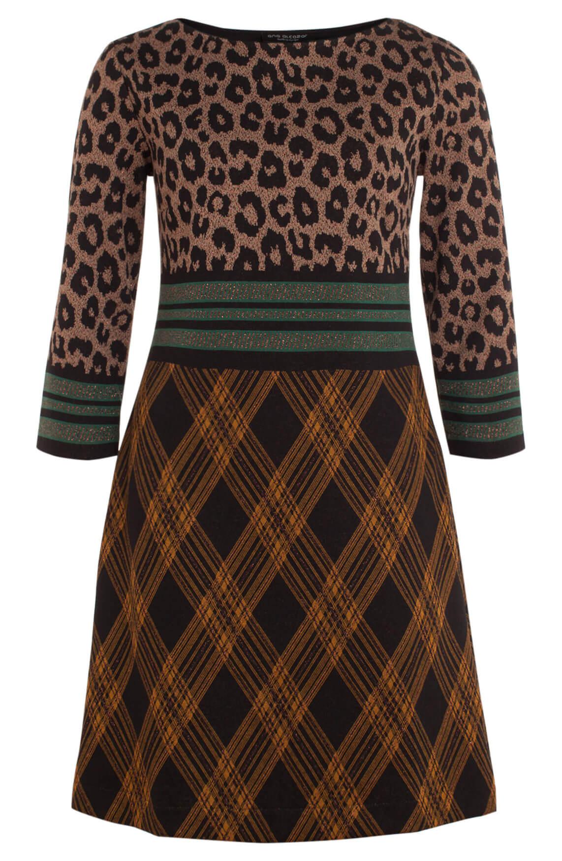 890aae4ed95be2 Ana Alcazar Dames Geprinte jurk met lurex zwart