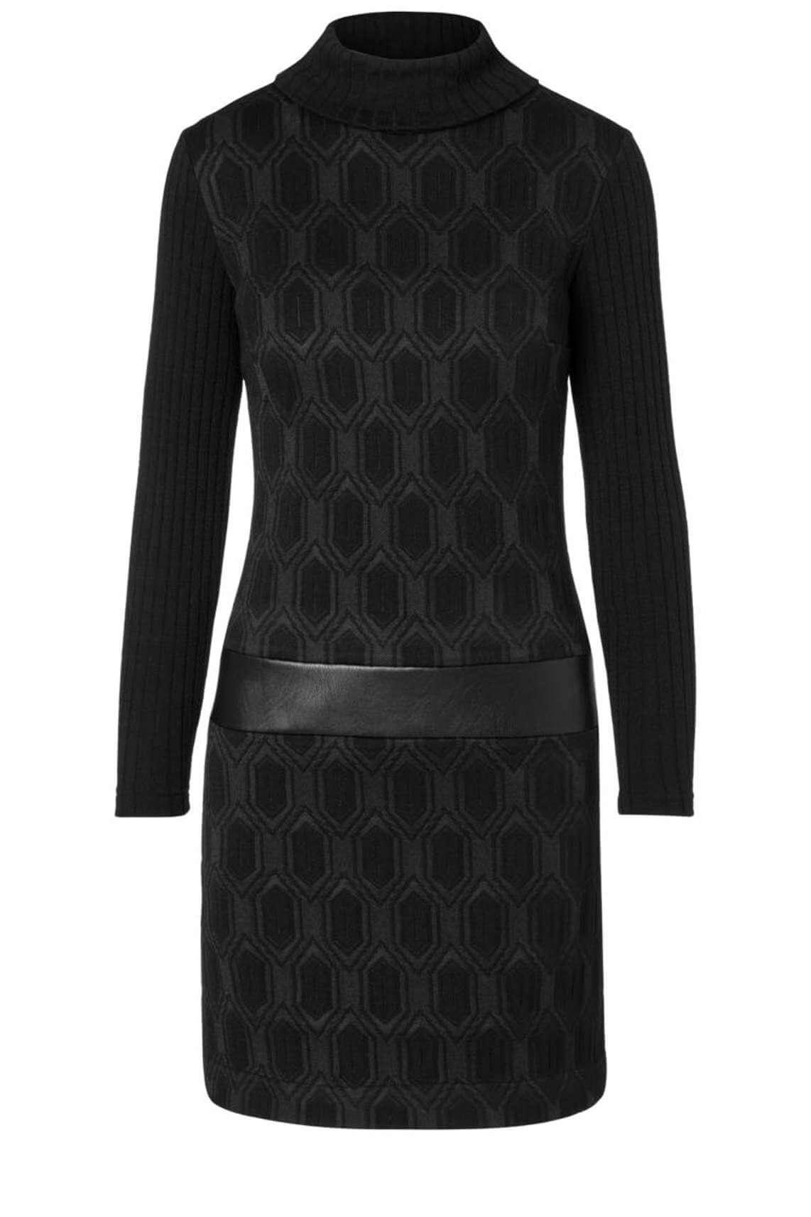 Ana Alcazar Dames Jurk met gedrukt patroon zwart
