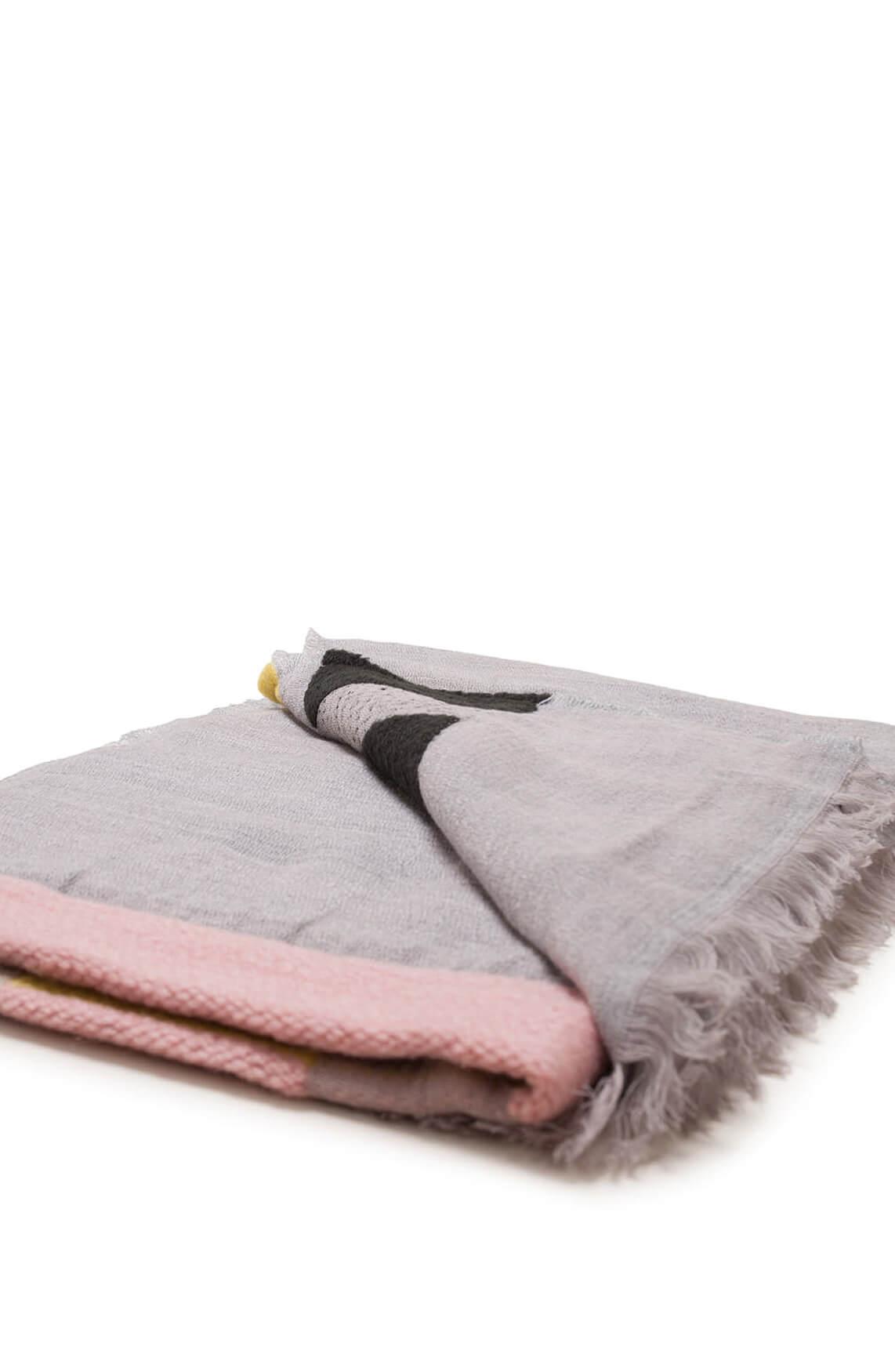 Moment by Moment Dames Elle materiaalmix shawl Grijs