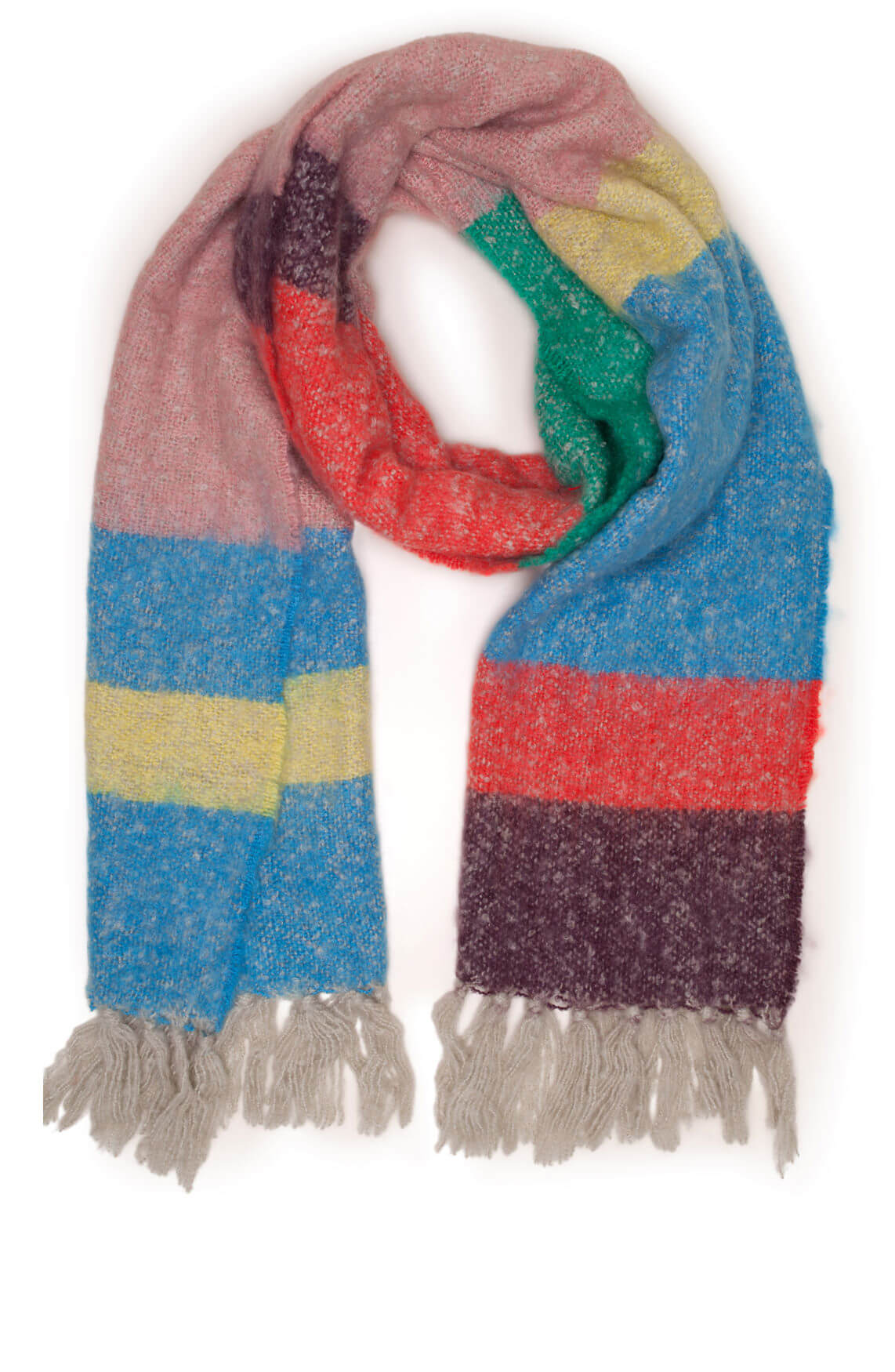 Moment by Moment Dames Erin colorblock shawl MultiColor