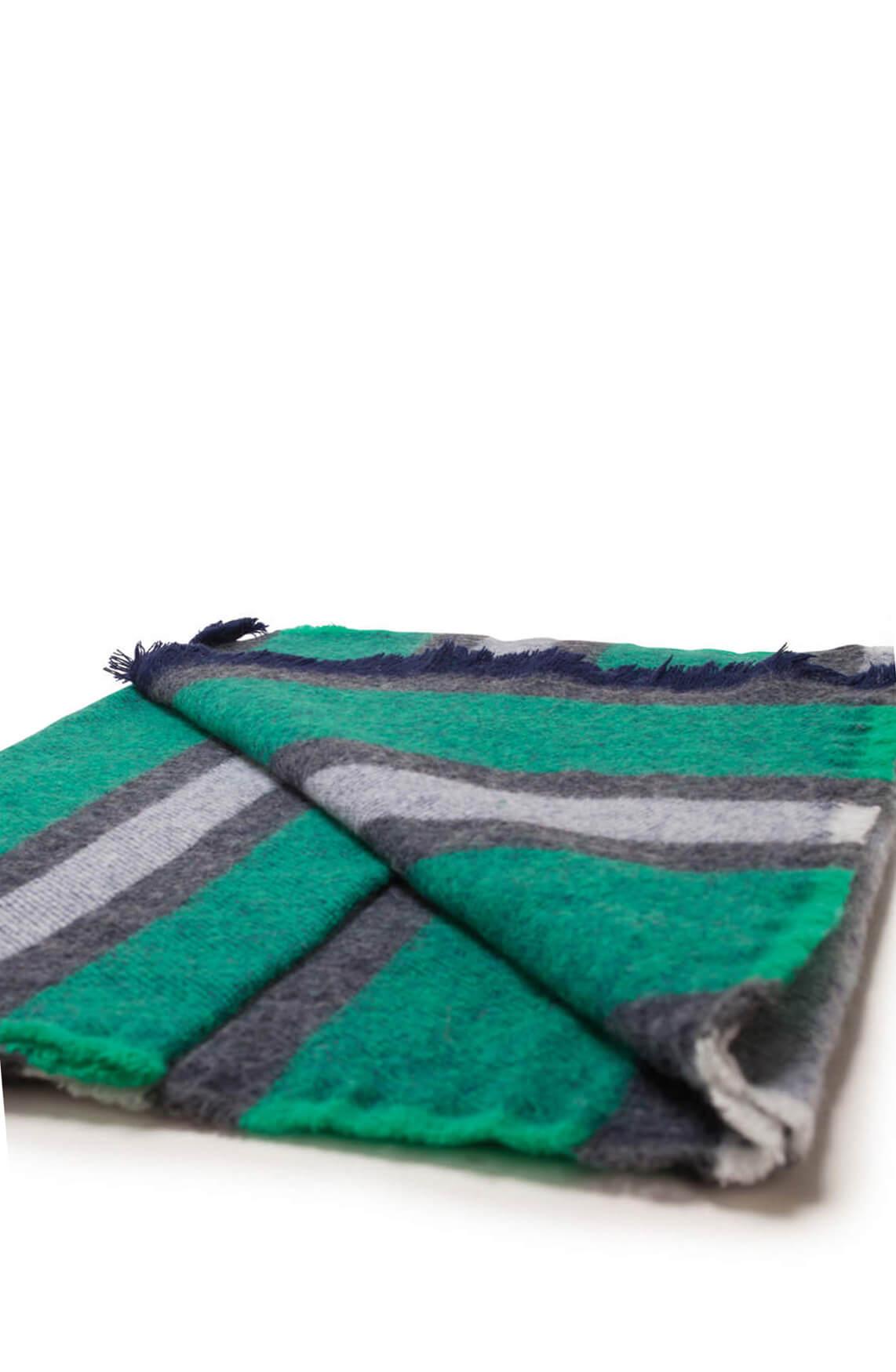 Moment by Moment Dames Faya gestreepte shawl groen