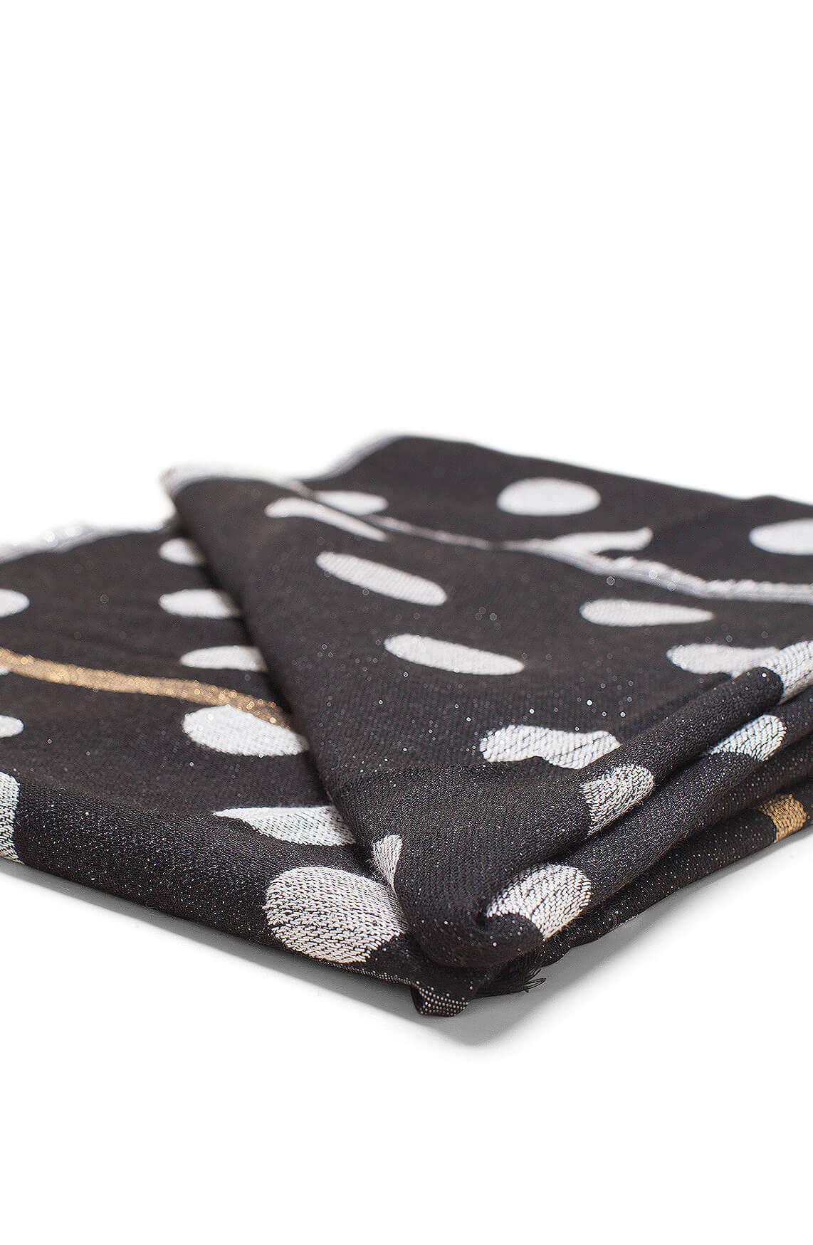 Moment by Moment Dames Ekin shawl met stippen zwart
