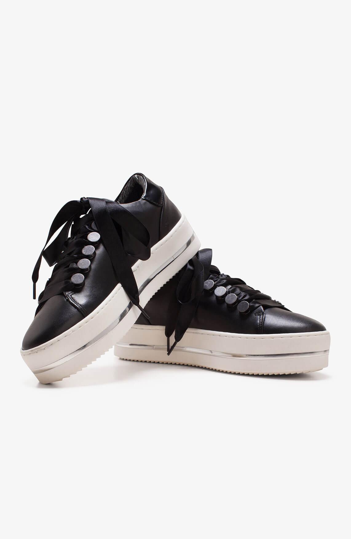 Hip Dames Sneaker met hoge zool zwart