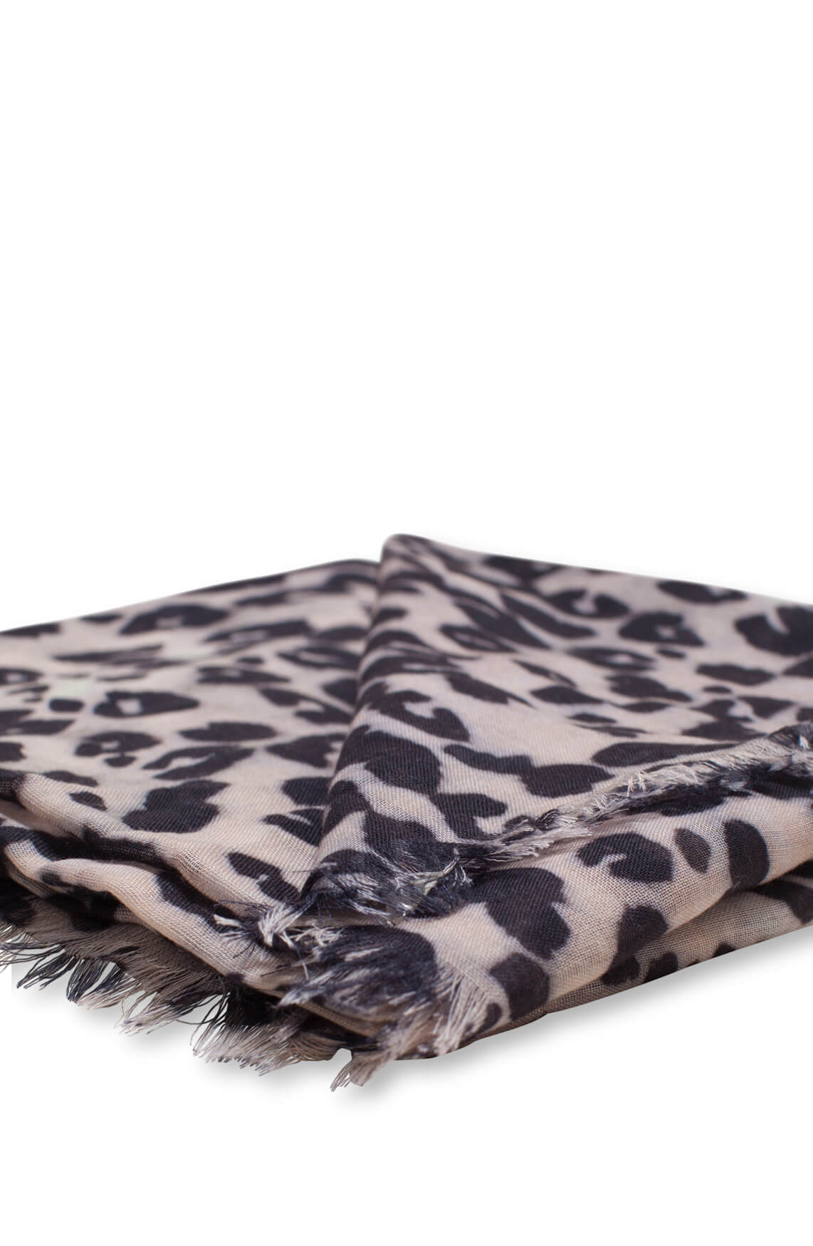 Anna Dames Panterprint shawl Bruin