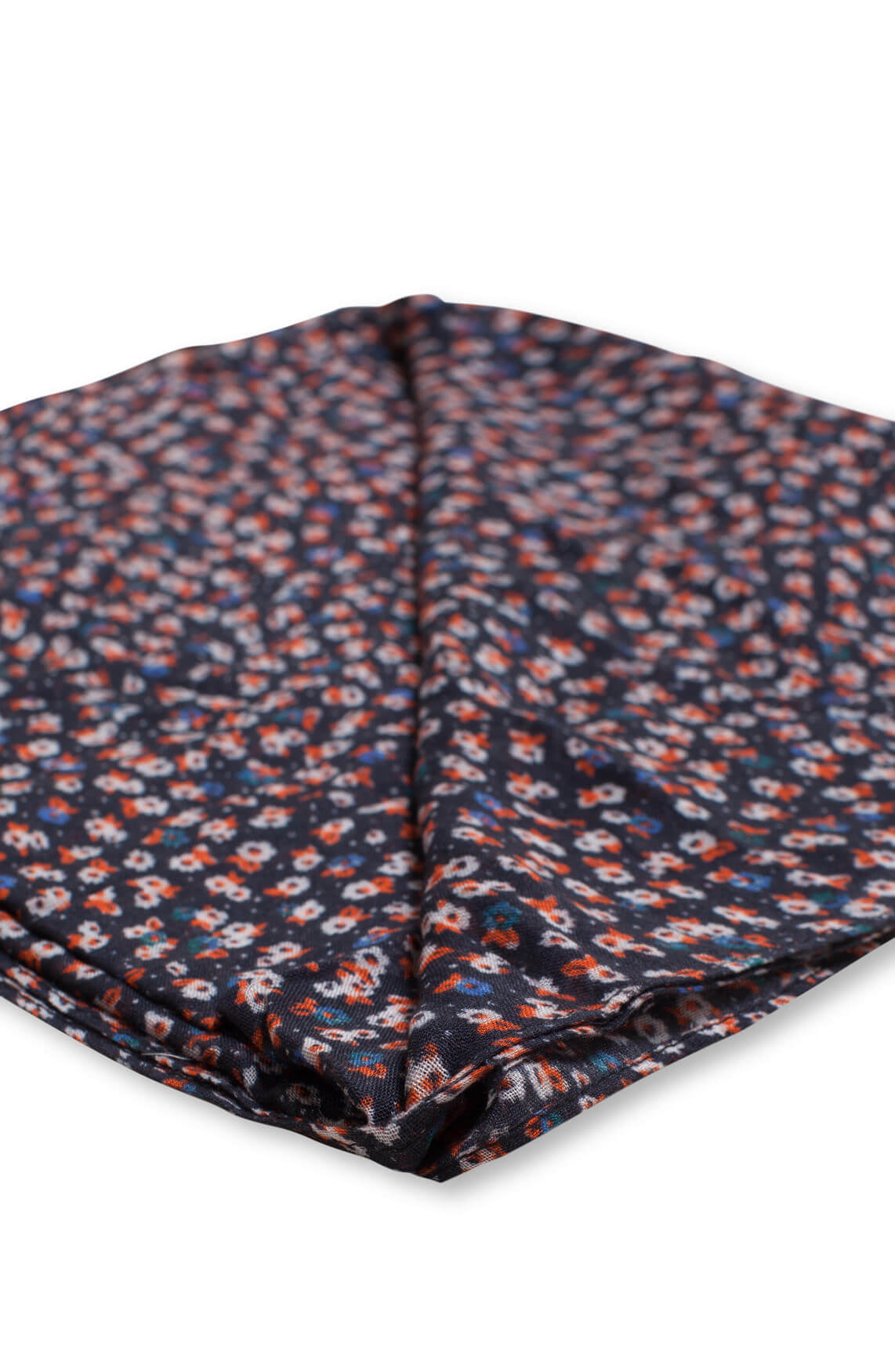 Anna Dames Bloemetjes shawl Blauw