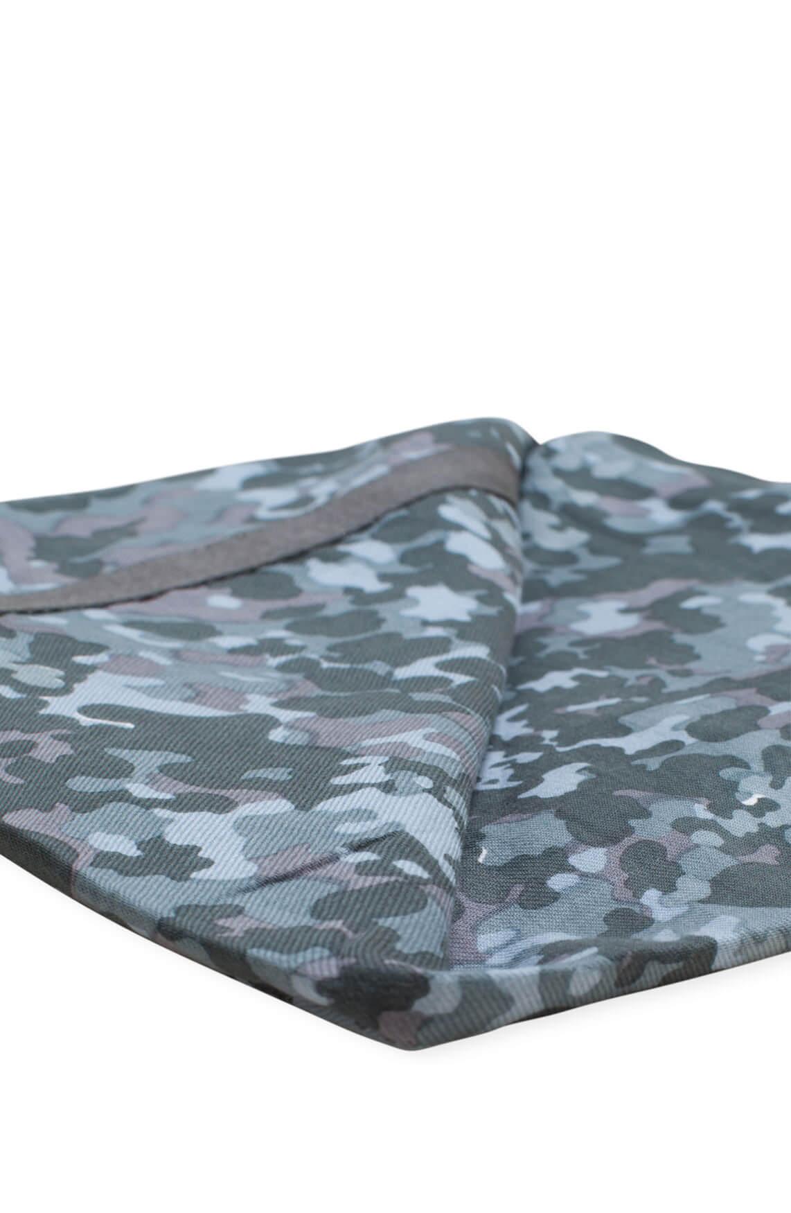 Anna Blue Dames Camouflage print shawl groen
