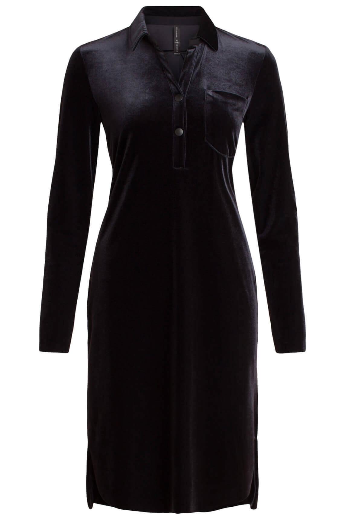 Jane Lushka Dames Velvet jurk zwart