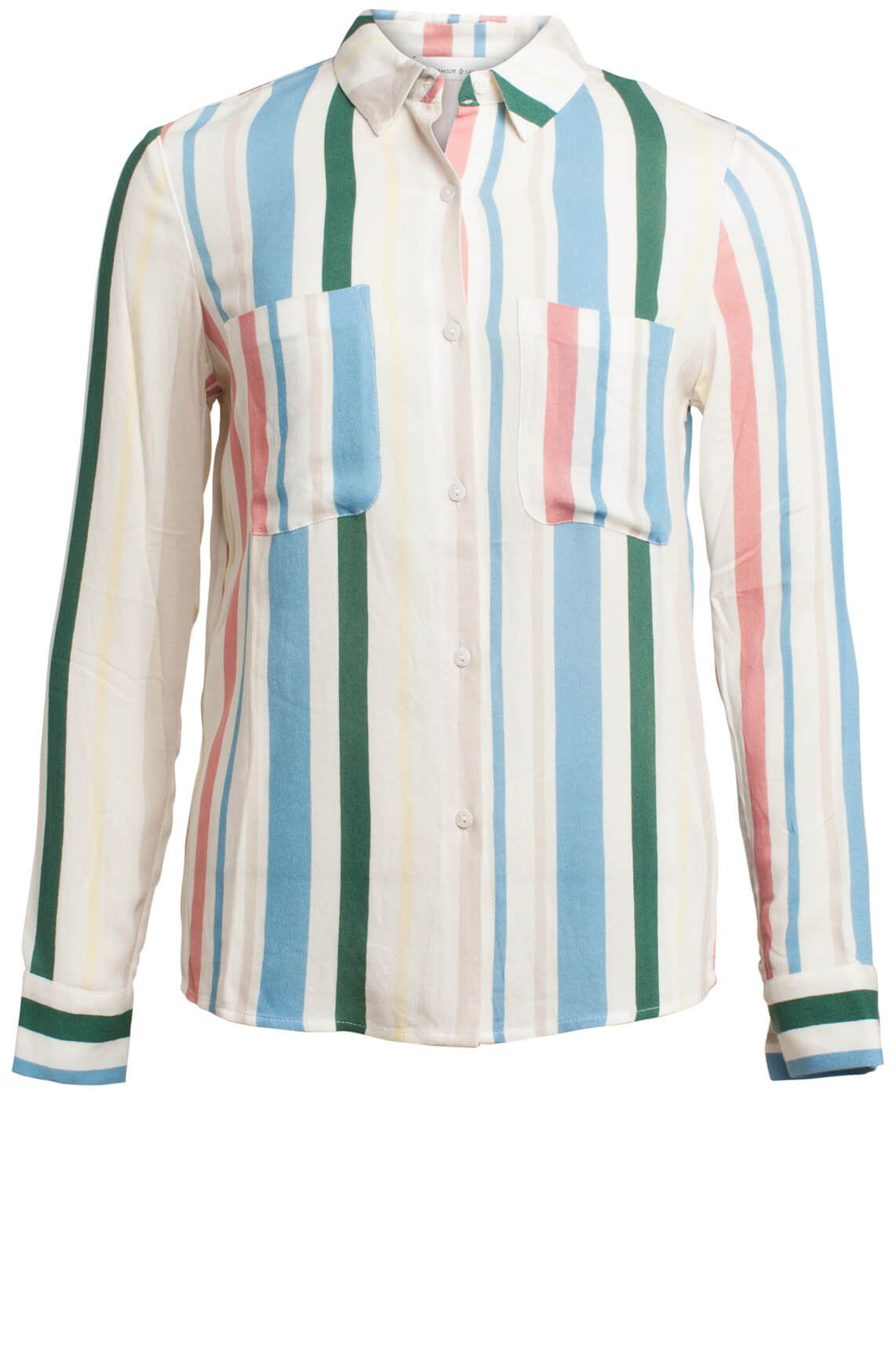 Samsoe Samsoe Dames Milly blouse met strepen Blauw
