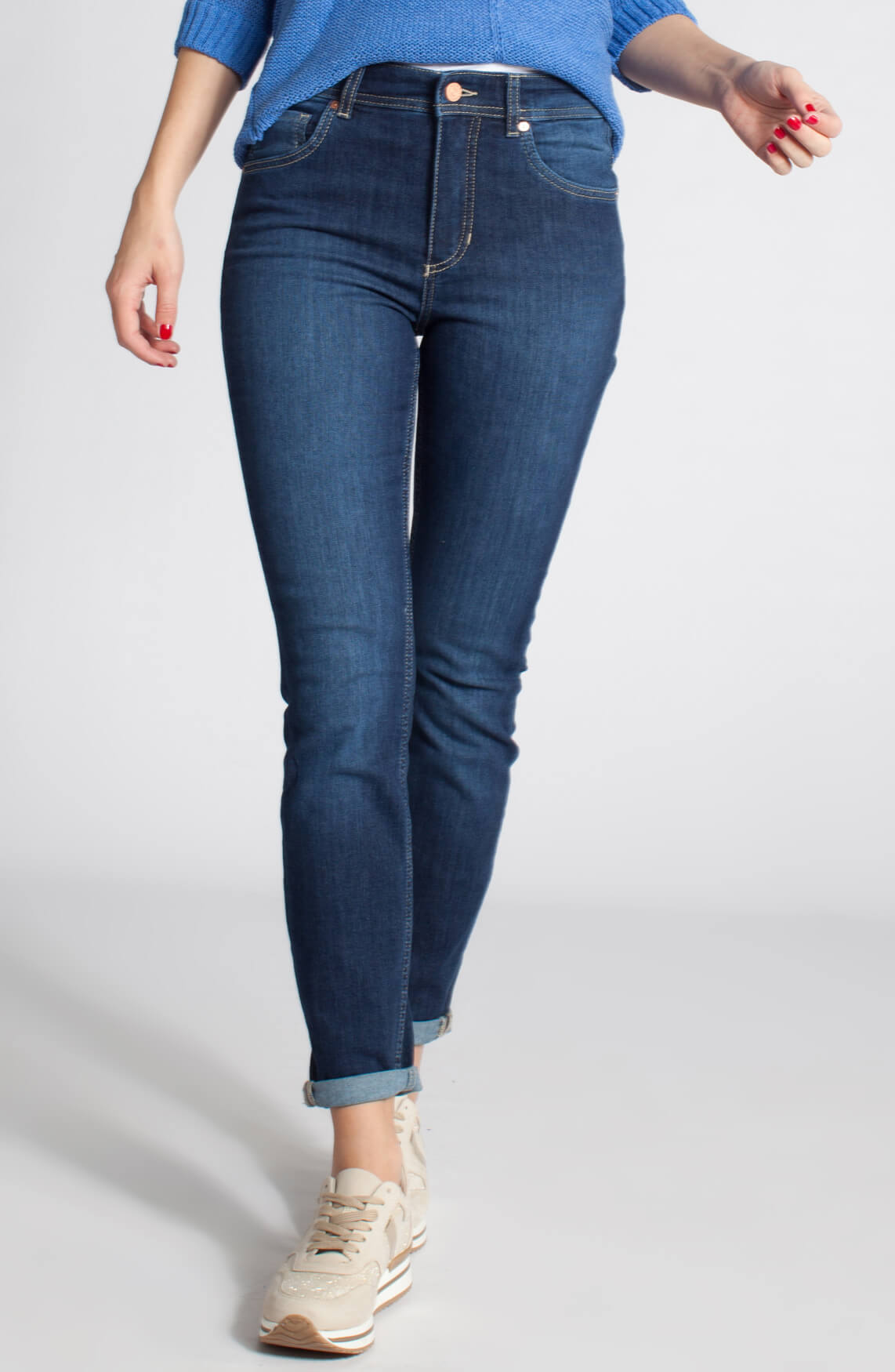 Rosner Dames Audrey donkere jeans Blauw
