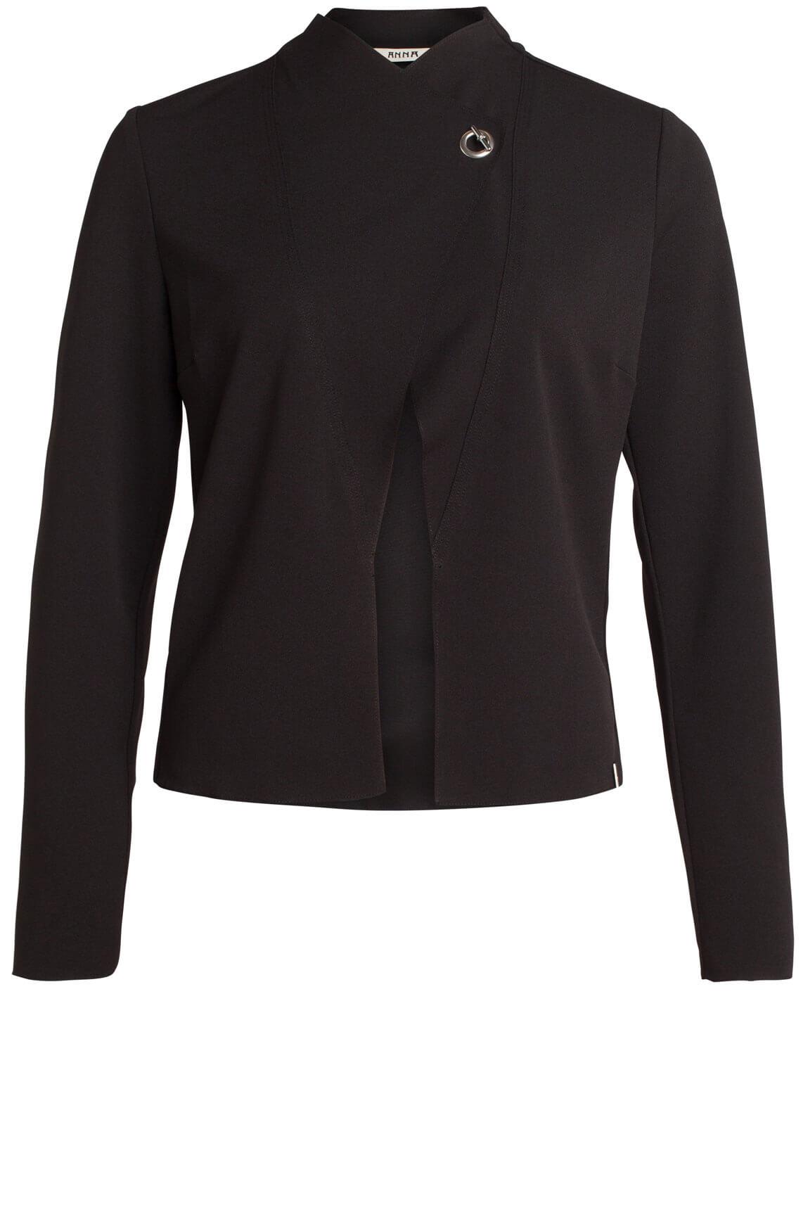 Anna Dames Chique blazer zwart