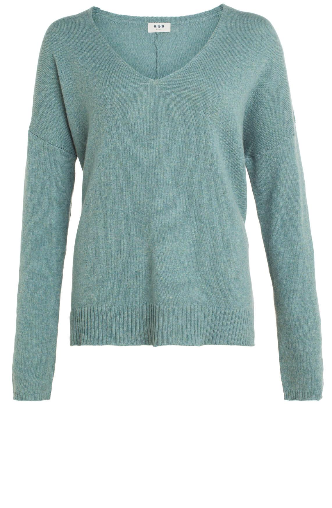 Anna Blue Dames Gemêleerde pullover groen