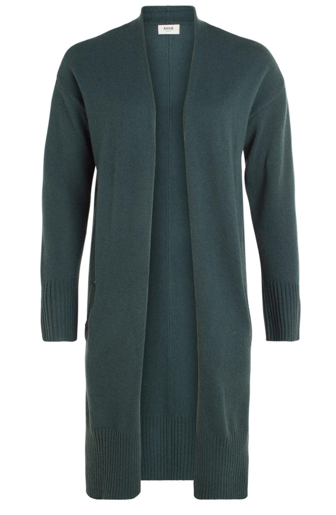 Anna Blue Dames Wollen vest groen