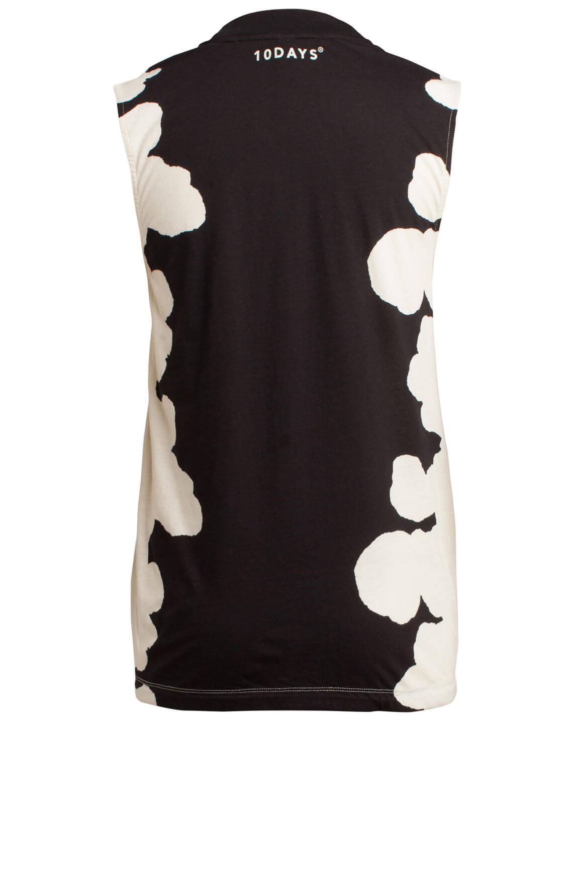 10 Days Dames Top met gevlekte print zwart