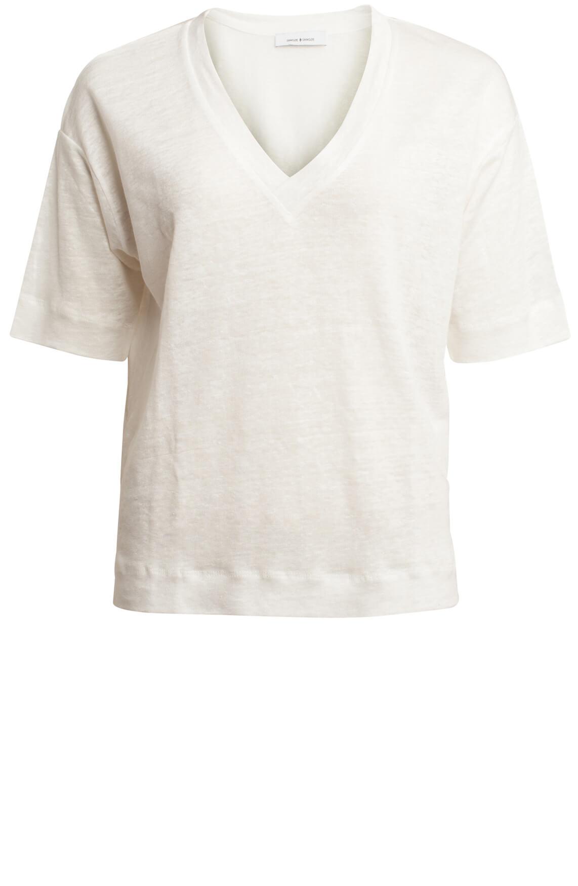 Samsoe Samsoe Dames Sania shirt wit wit