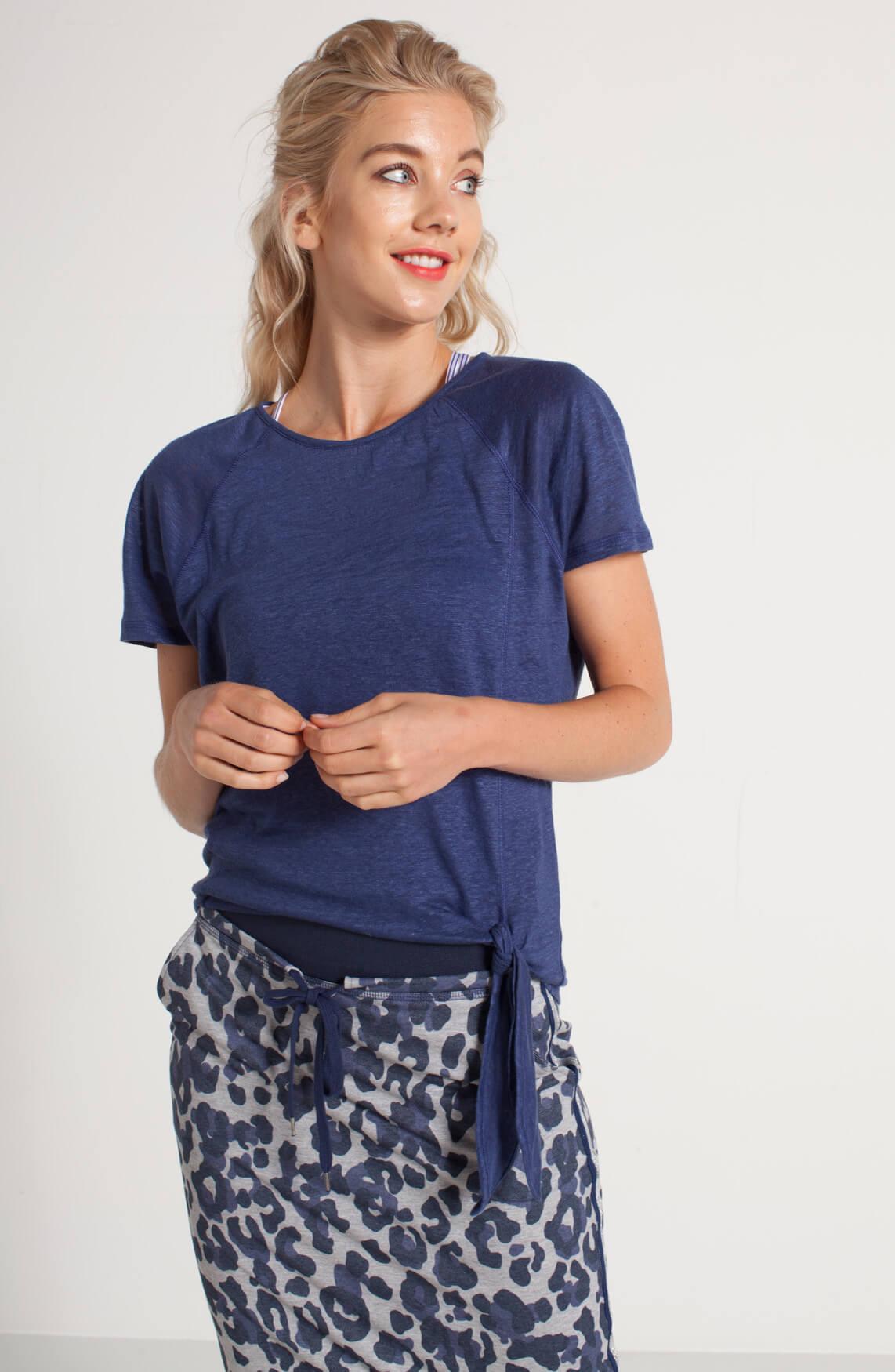 Anna Blue Dames Shirt met knoopsluiting Blauw