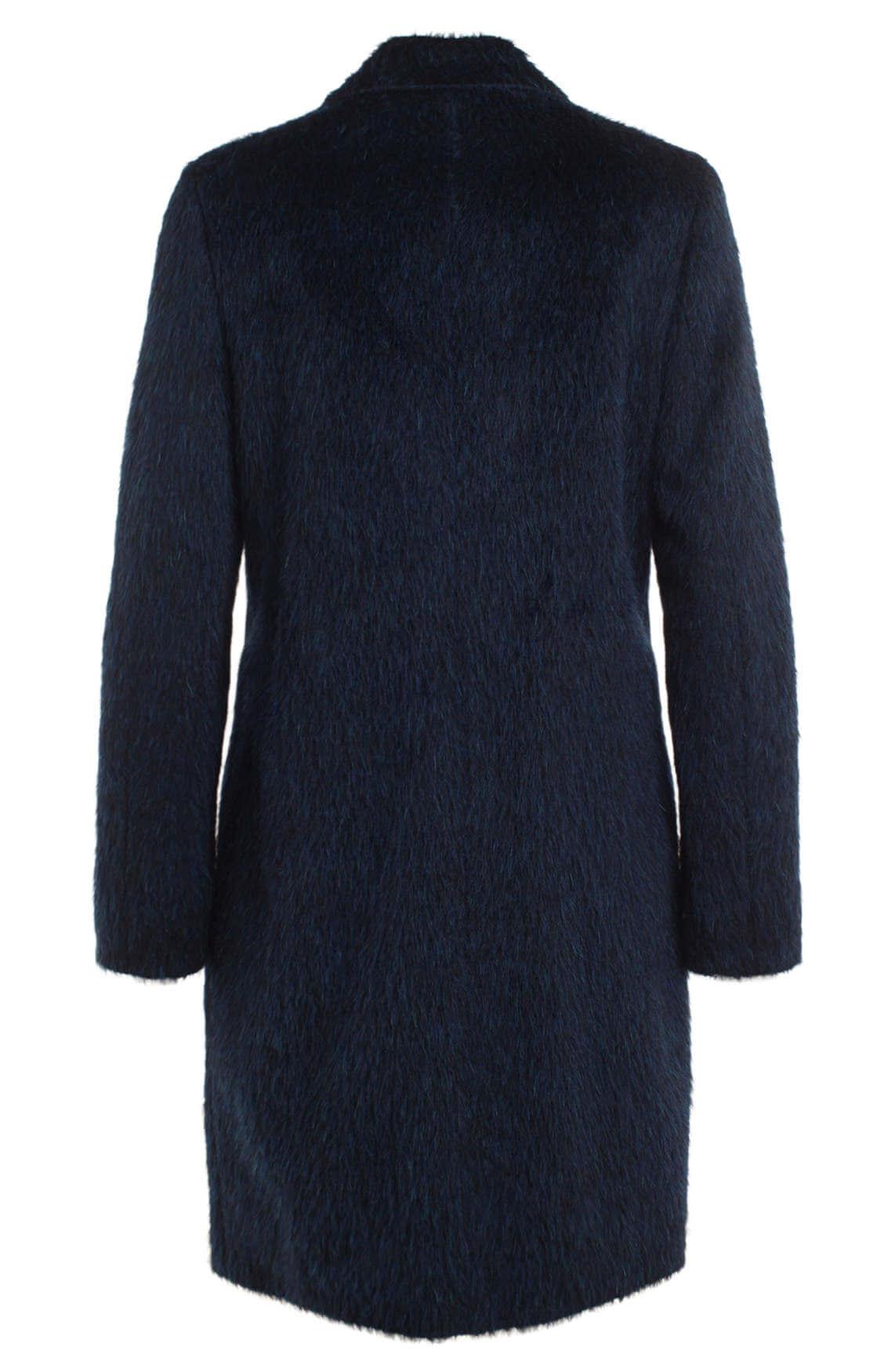 Anna Dames Harige mantel Blauw